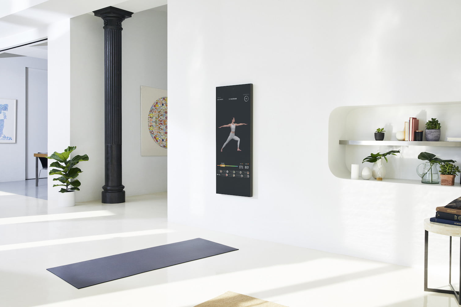 Wall Mirrors For Home Gym Within Newest Dread The Gym? This Smart Mirror Delivers Your Fitness Fix At Home (View 19 of 20)