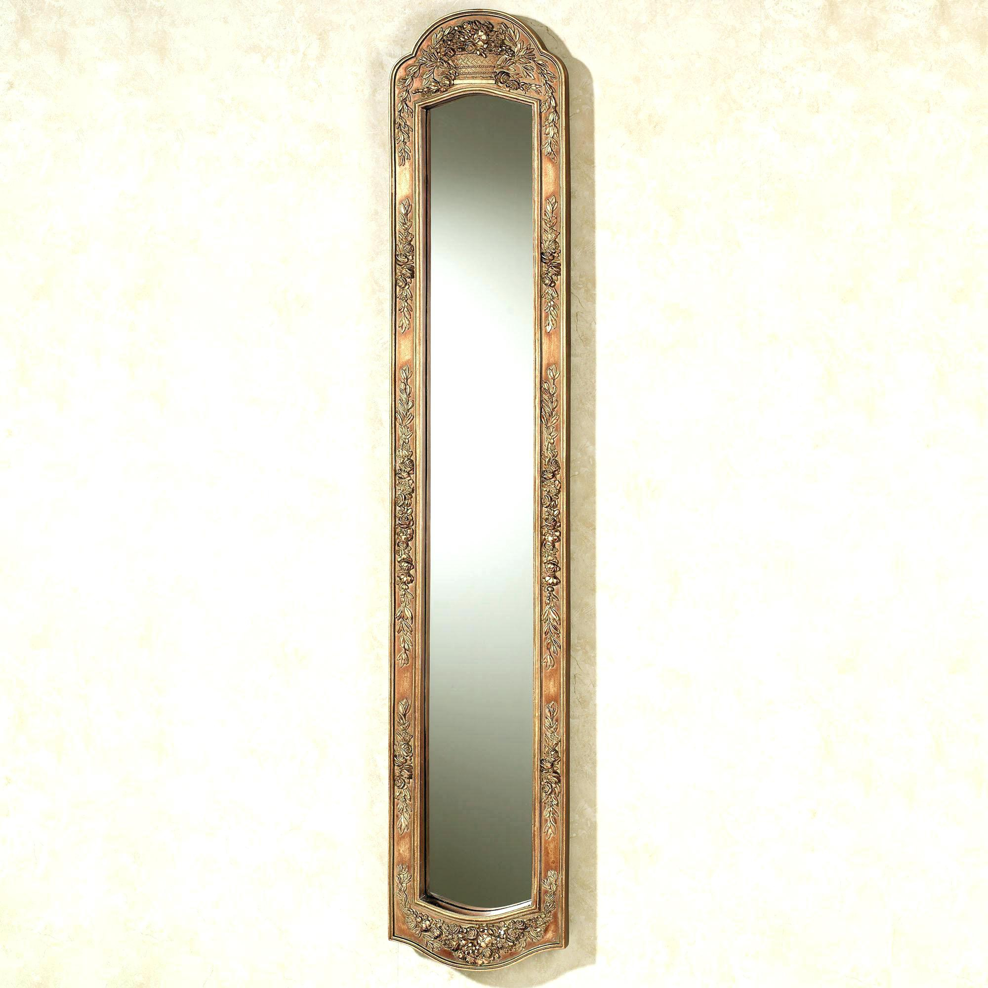 Wall Mirrors Italian Gilt Long Narrow Hanging Mirror Labarge Oval Intended For 2020 Narrow Wall Mirrors (View 4 of 20)