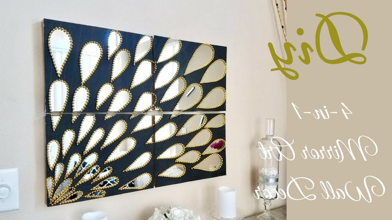 Wall Mirrors With Art For Recent Diy 4 In 1 Large Mirror Wall Art Decor (View 15 of 20)