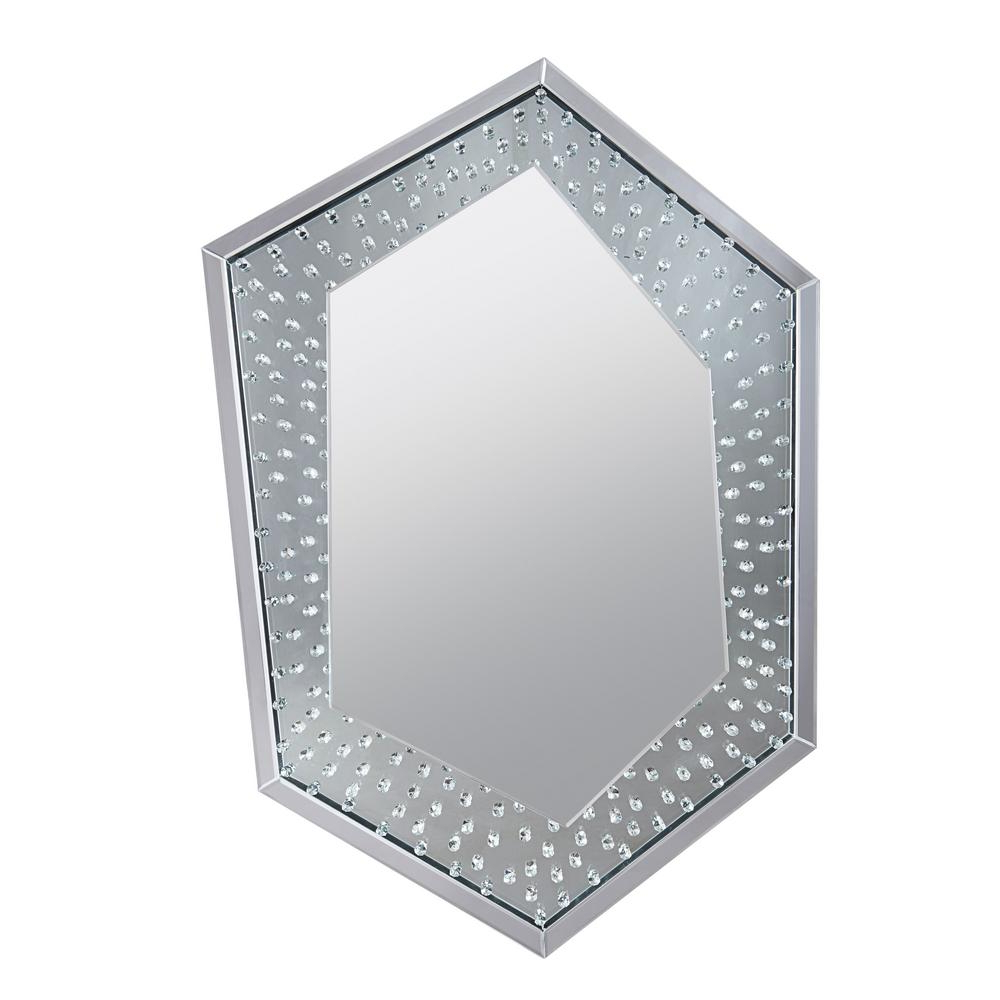 Wall Mirrors With Crystals Intended For Current Nysa Mirrored And Faux Crystals Wall Decor (View 7 of 20)