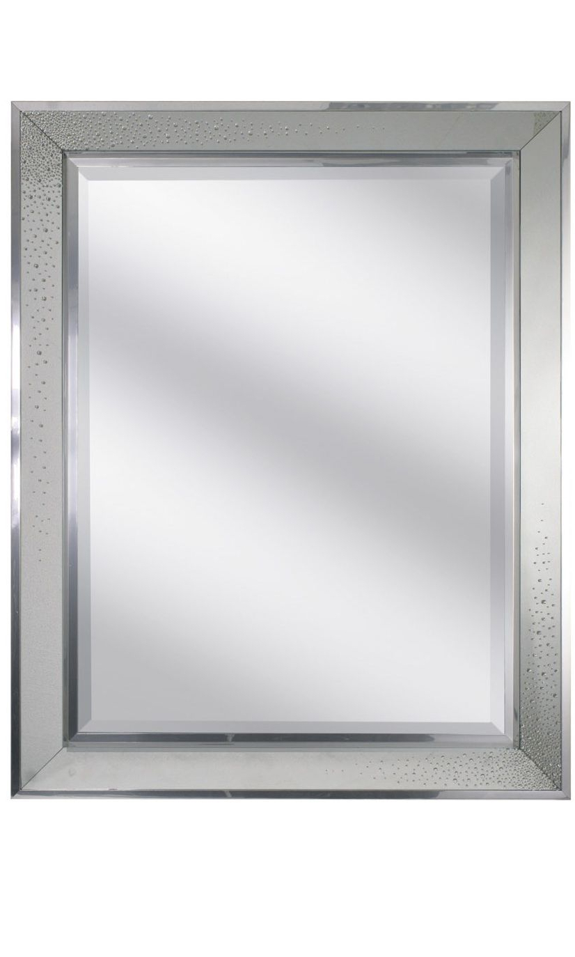 Wall Mirrors With Crystals Intended For Trendy Wall Mirrors, Luxury Designer Swarovski Crystals Chrome Mirror $ (View 10 of 20)