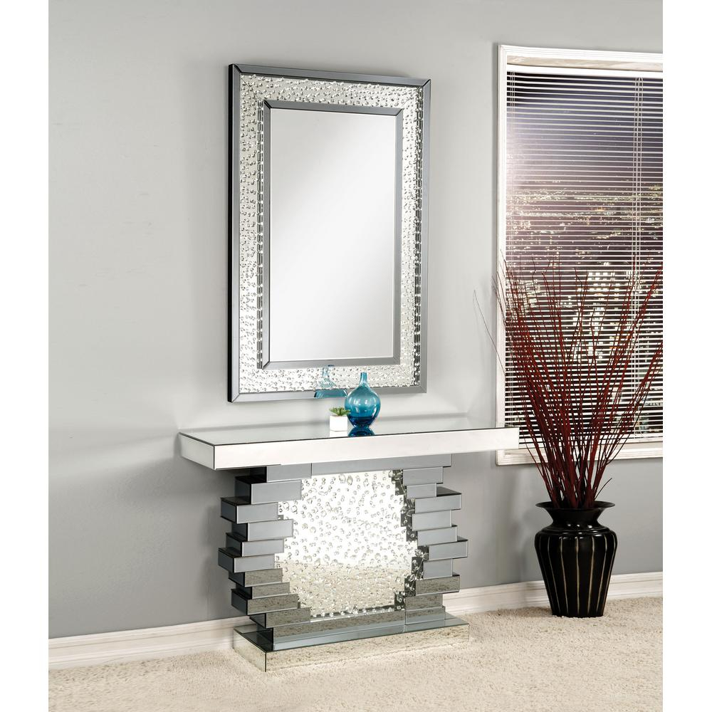 Wall Mirrors With Crystals With Favorite Nysa Mirrored And Faux Crystals Accent Mirror (View 9 of 20)