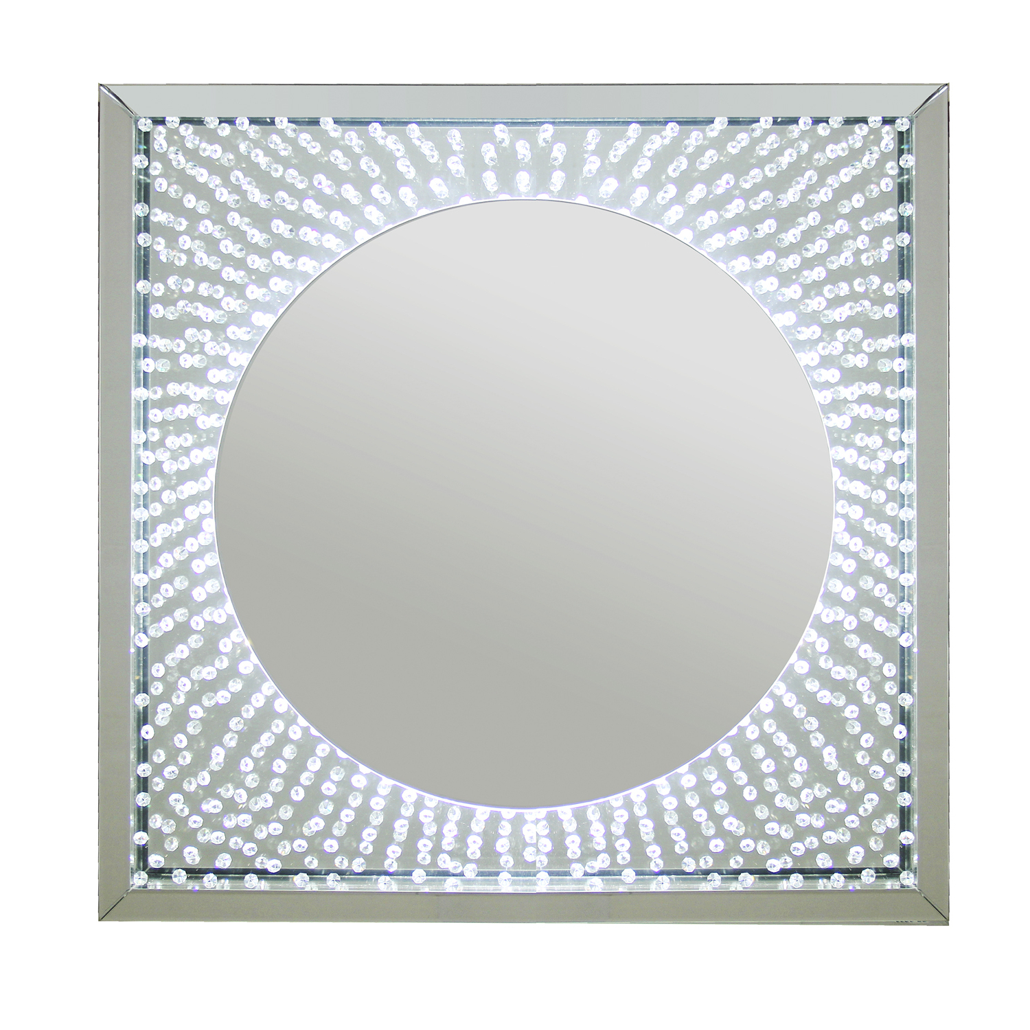 Wall Mirrors With Crystals With Newest Floating Crystal Led Mirror (View 4 of 20)