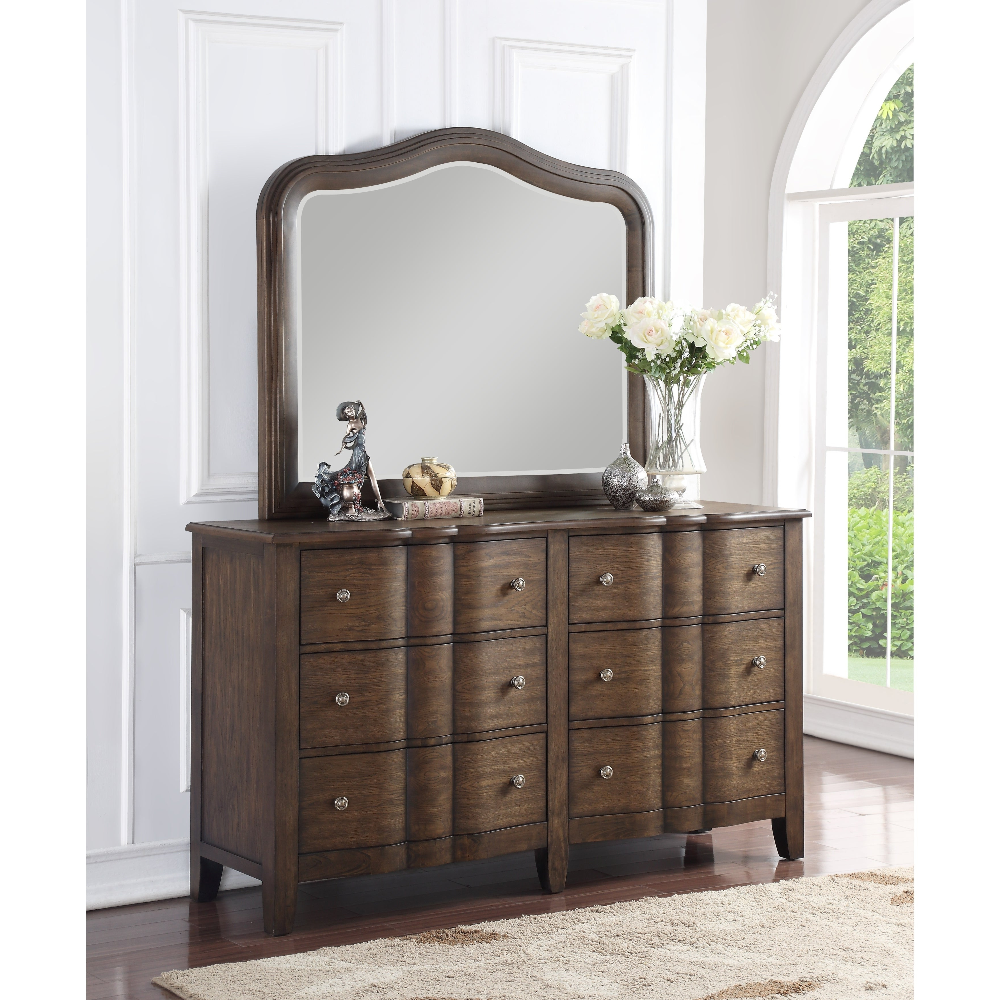 Wall Mirrors With Drawers Intended For Fashionable Abbyson Andre Rectangle Wall Mirror – Brown – N (View 19 of 20)