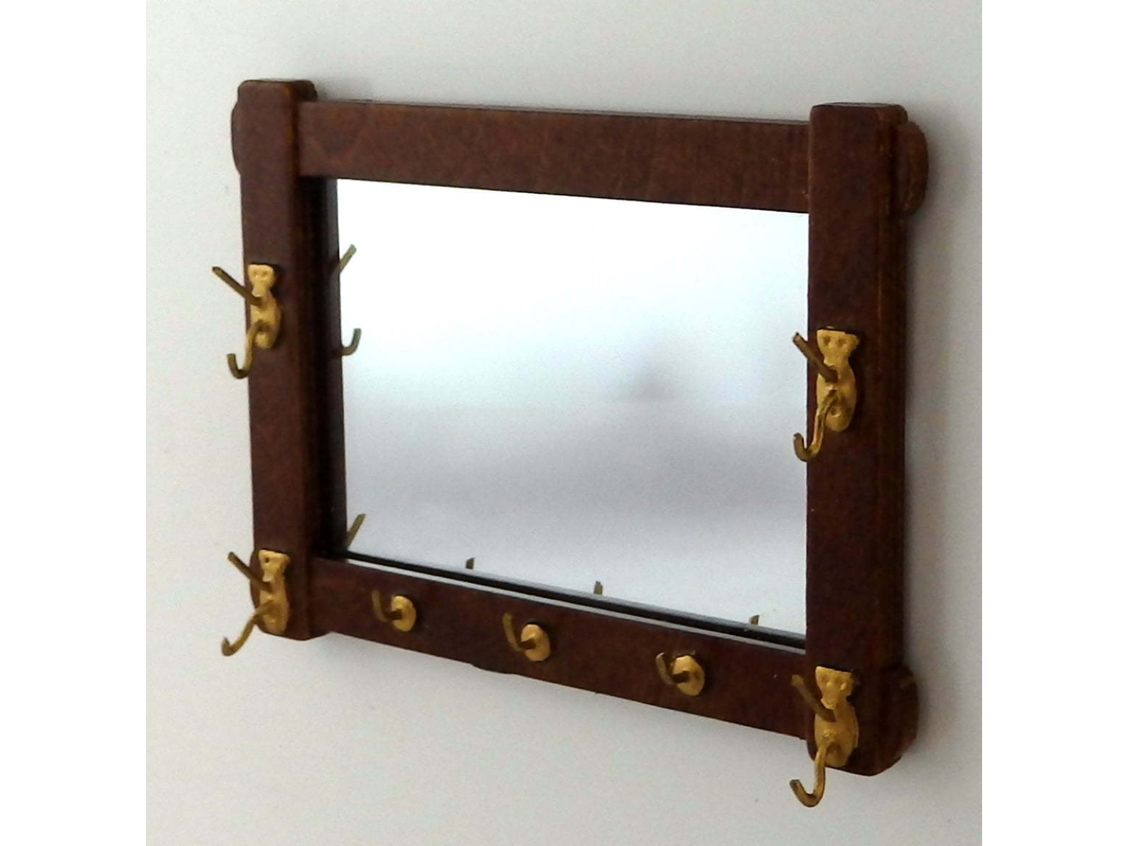 Wall Mirrors With Hooks Within Recent Dolls House Arts & Crafts Wall Mirror With Hooks Jbm Miniature Hall Accessory (View 19 of 20)