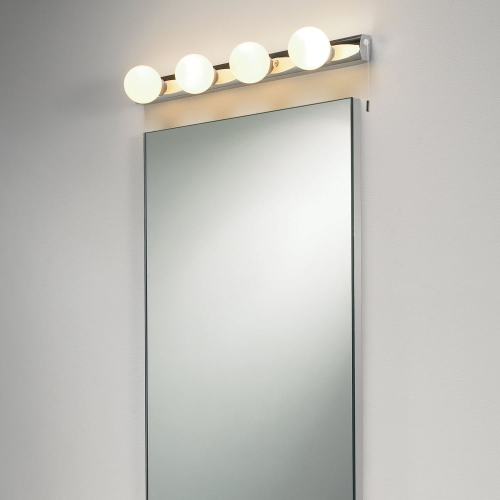 Wall Mirrors With Light Intended For Well Known Cabaret 4 Ip44 Bathroom Wall Mirror Light (View 4 of 20)
