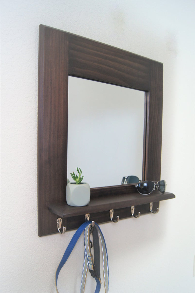 Featured Photo of Wall Mirrors With Shelf And Hooks