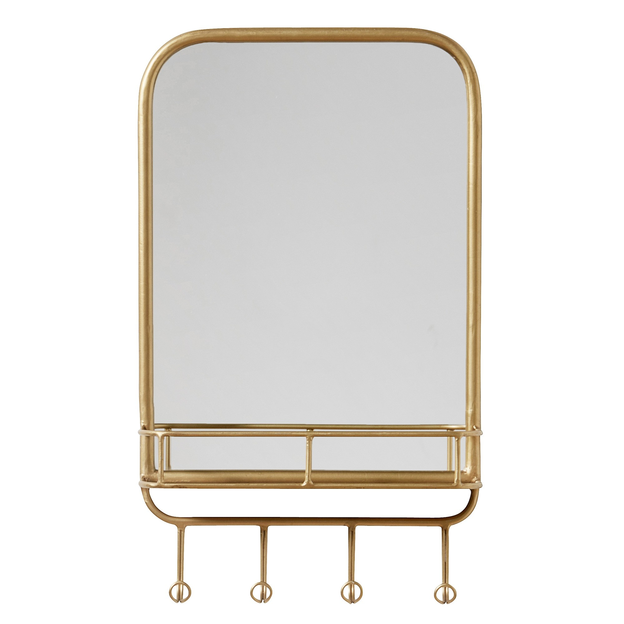 Wall Mirrors With Shelf And Hooks With Regard To Newest Simple Wall Mirror With Shelf And Hooks (View 17 of 20)