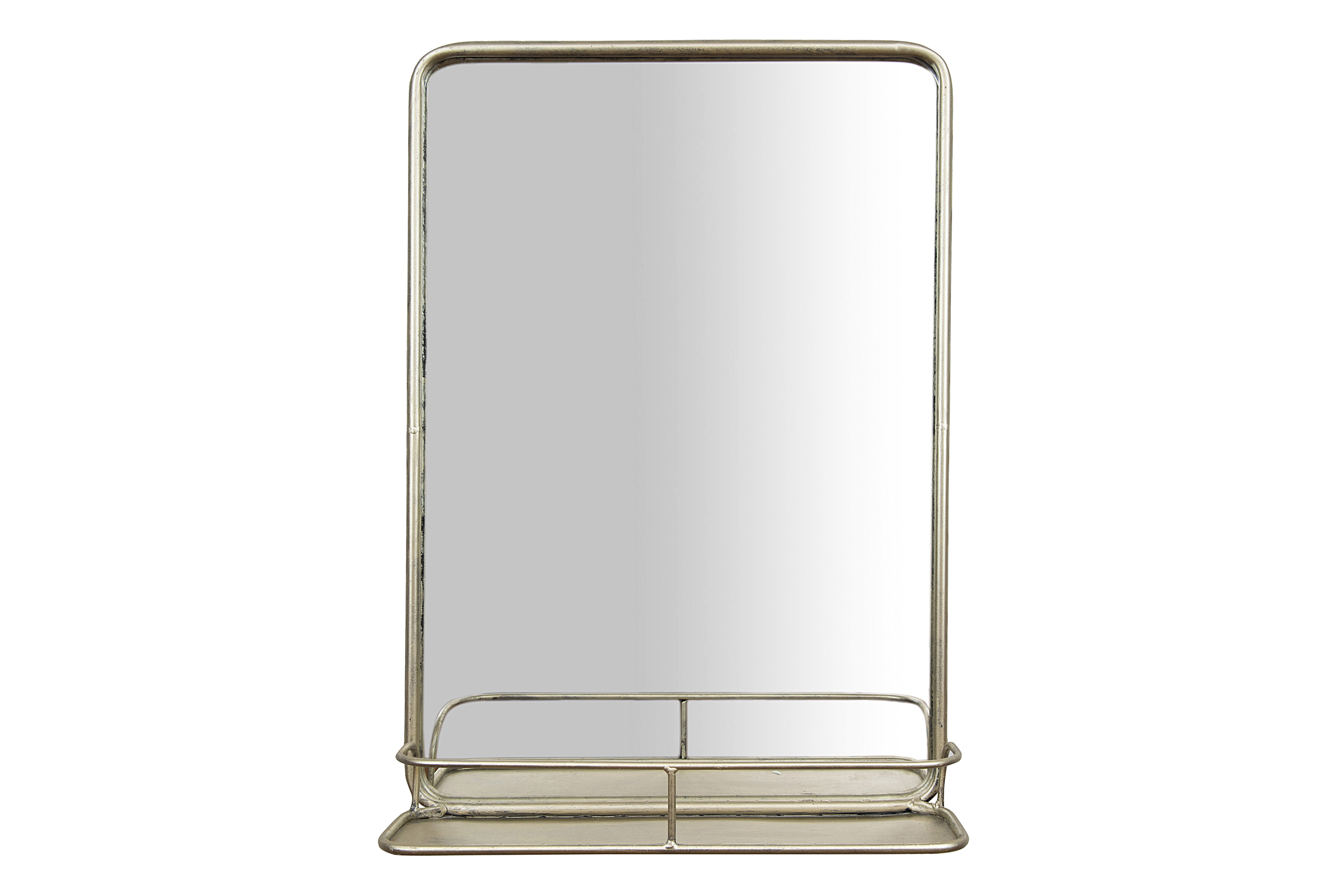 Wall Mirrors With Shelf With Regard To Best And Newest Diep Metal Wall Mirror With Shelf (View 17 of 20)