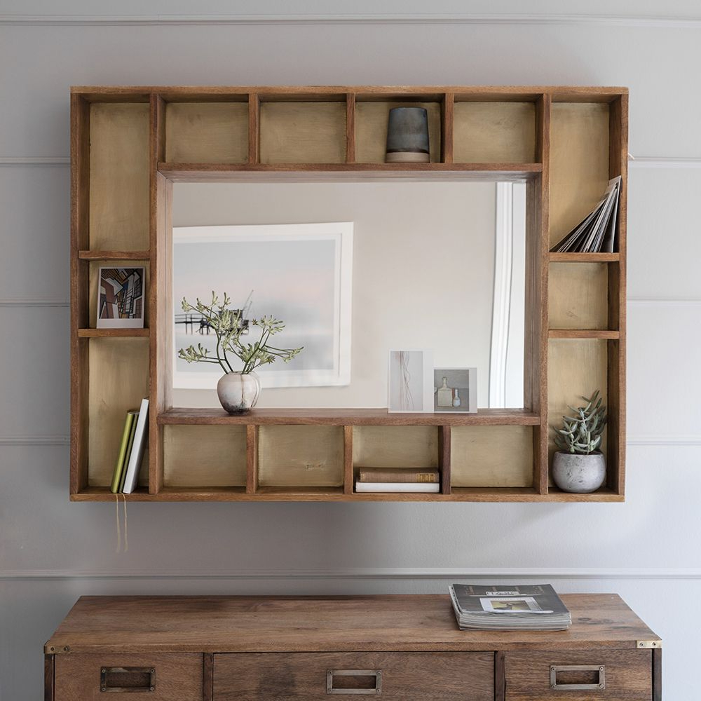 Wall Mirrors With Shelf With Well Known Pigeonhole Mirror Shelf (View 3 of 20)