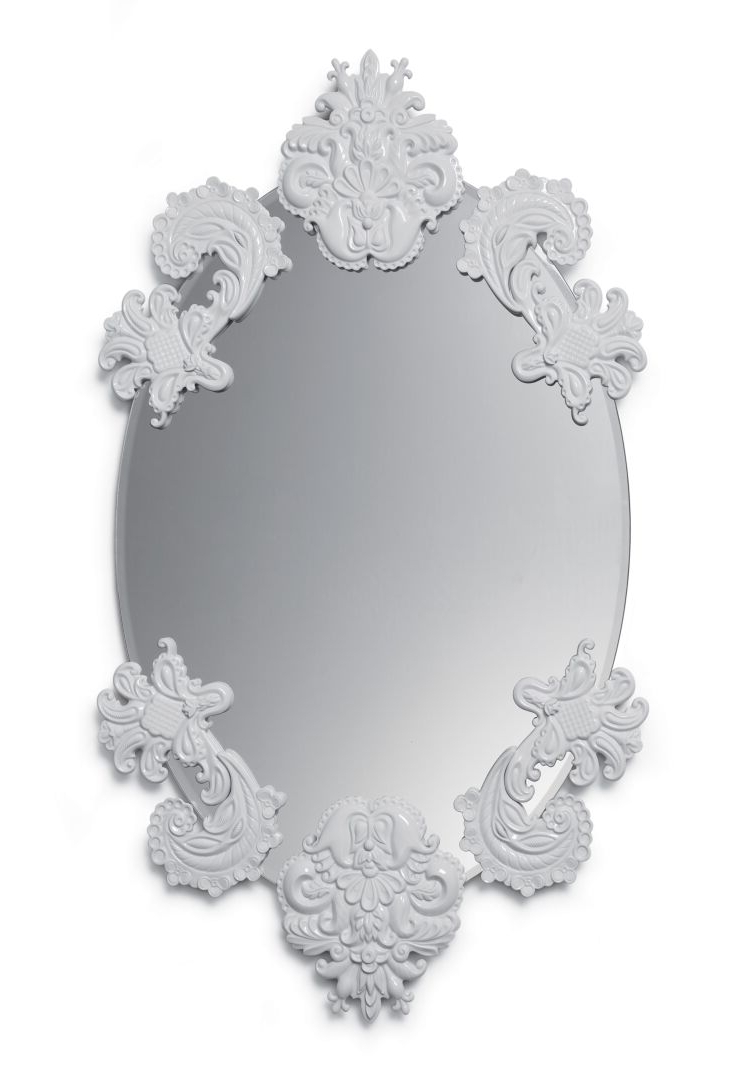 Wall Mirrors Without Frame With Most Recently Released Oval Mirror Without Frame Wall Mirror (View 2 of 20)