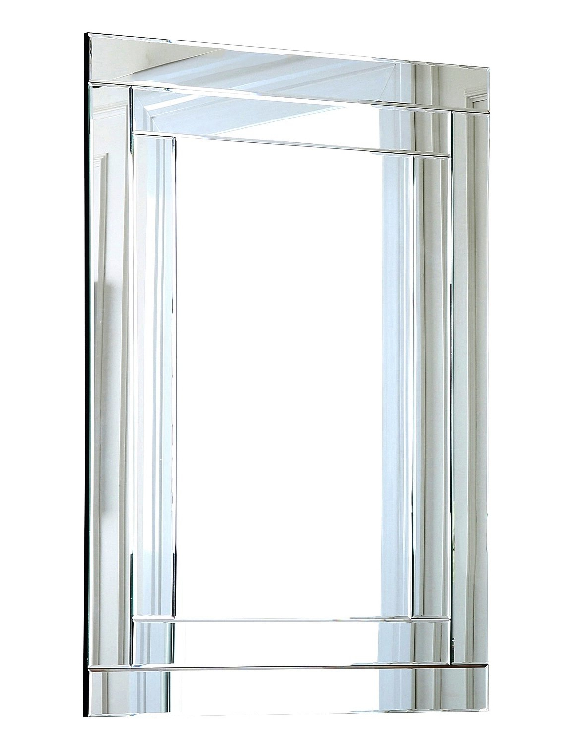 Wallingford Large Frameless Wall Mirrors Pertaining To Popular Rectangle Wall Mirror (View 13 of 20)