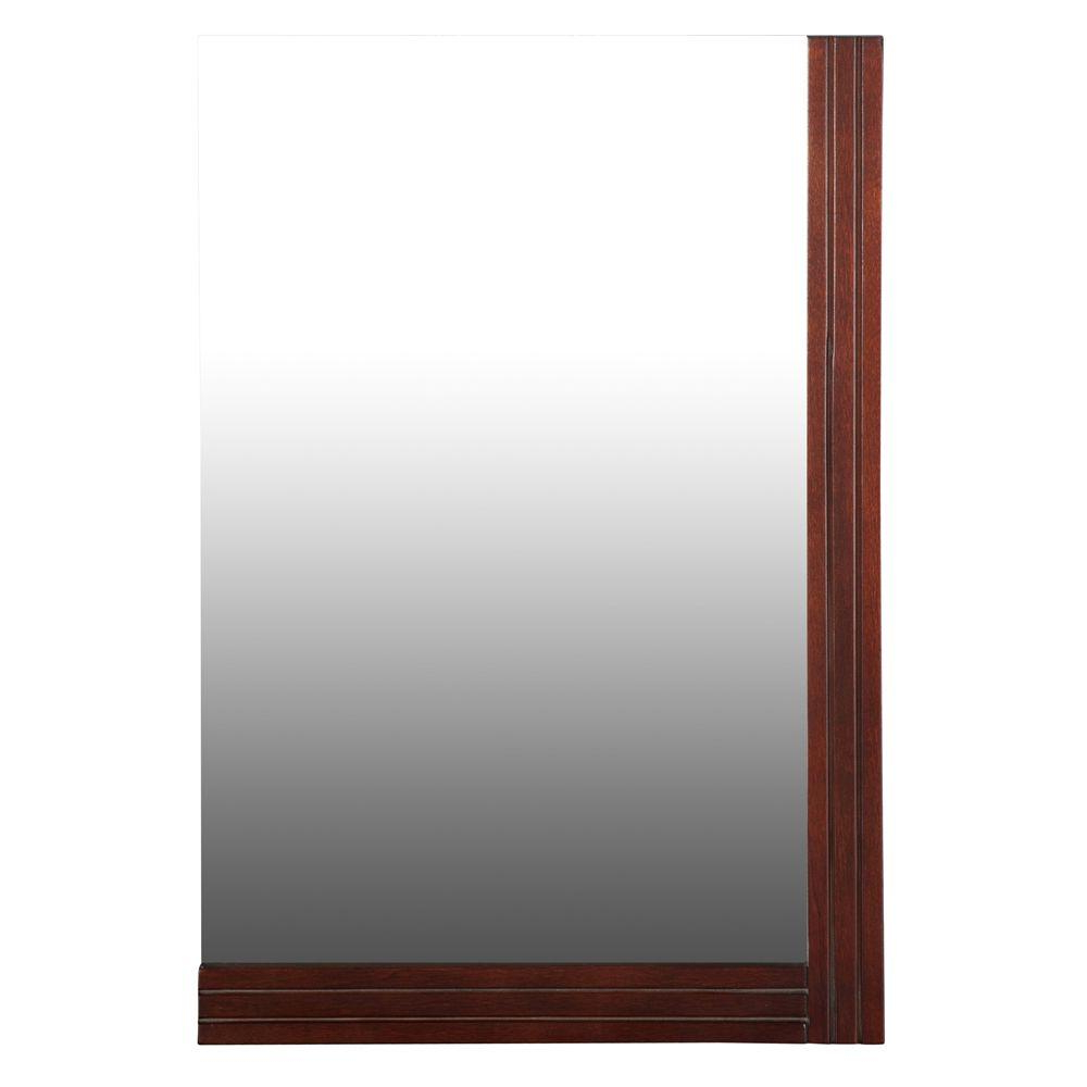 Walnut Wall Mirrors With Newest Home Decorators Collection Ellis 25 In. X 17 In (View 17 of 20)