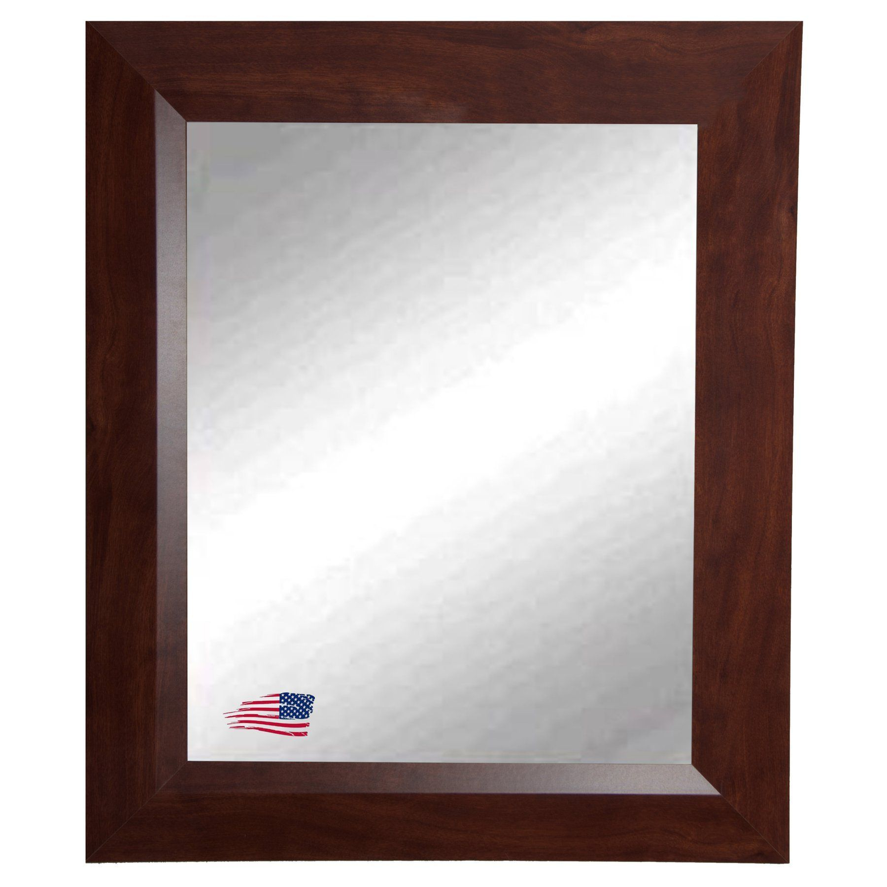 Walnut Wall Mirrors With Regard To Most Recently Released Rayne Mirrors Midwest Walnut Wall Mirror – V0016s (View 9 of 20)