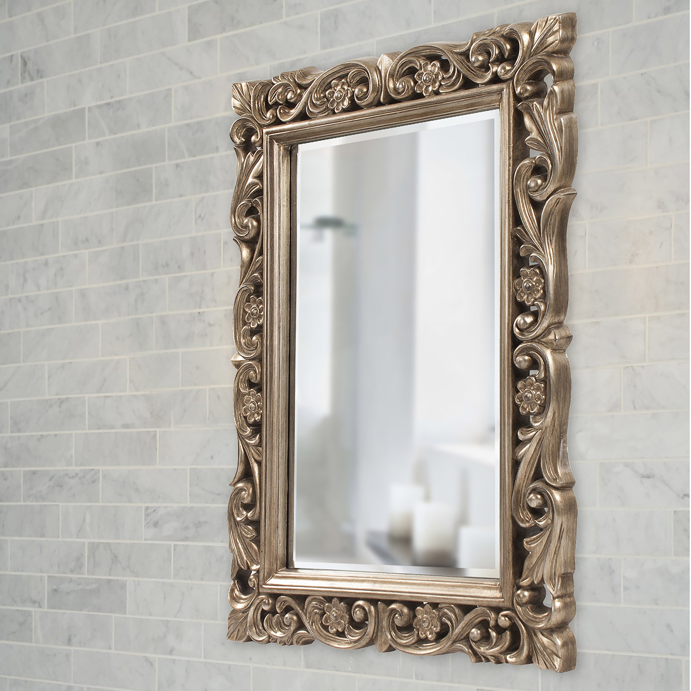 Wayfair For Vassallo Beaded Bronze Beveled Wall Mirrors (Gallery 20 of 20)