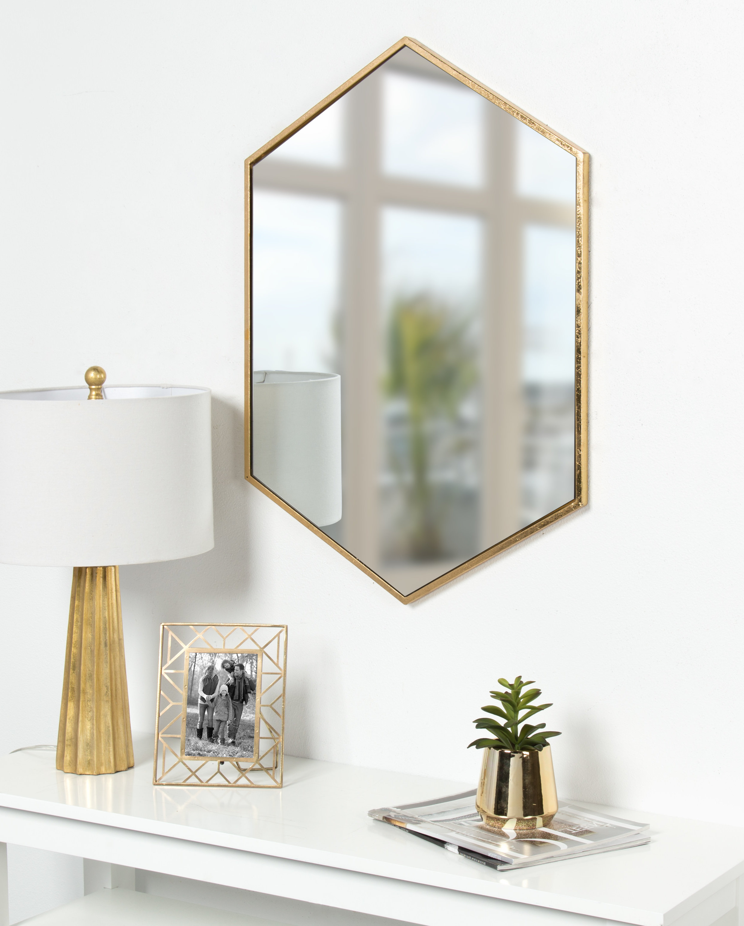 Wayfair Inside Gia Hexagon Accent Mirrors (View 20 of 20)