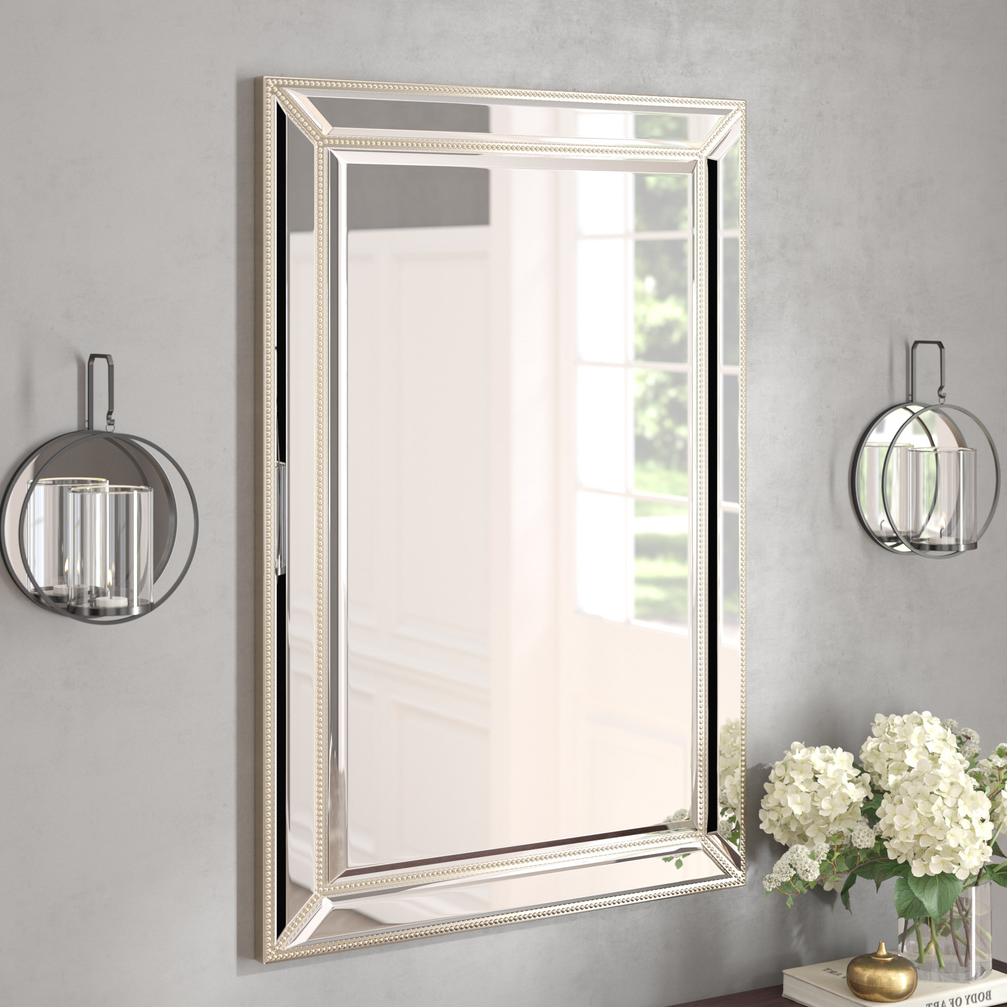 Wayfair Throughout Fashionable Vassallo Beaded Bronze Beveled Wall Mirrors (Gallery 11 of 20)