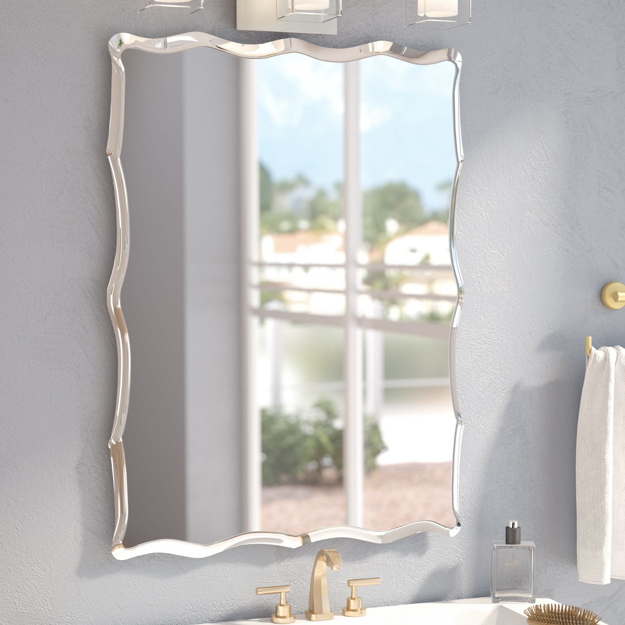Wayfair With Estefania Frameless Wall Mirrors (View 19 of 20)