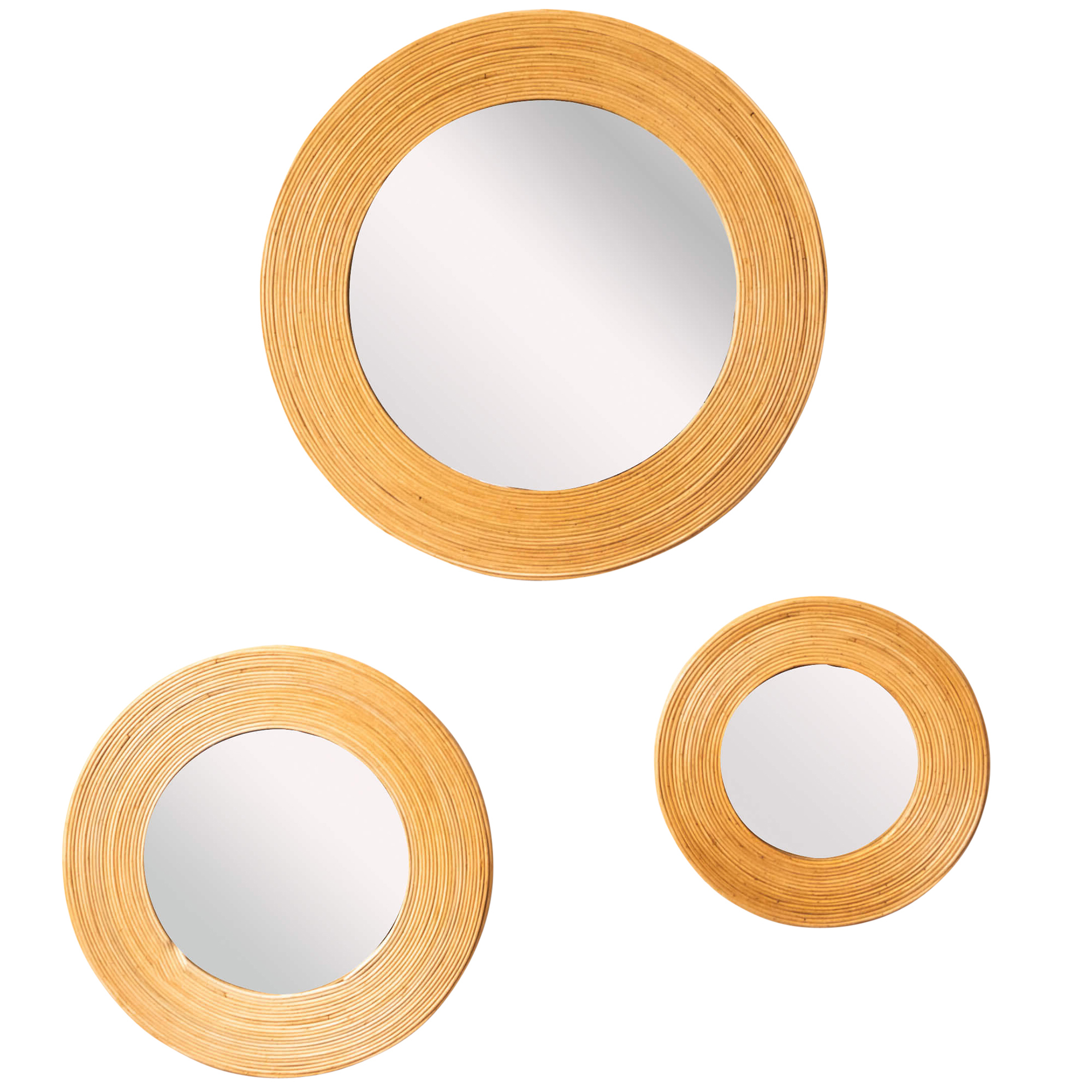 Well Known 3 Piece Albany Round Rattan Wall Mirror Set For Round Wall Mirror Sets (View 20 of 20)