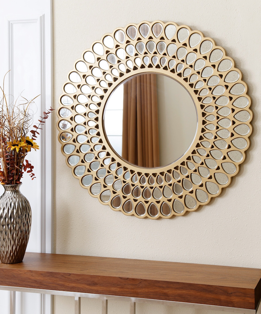 Well Known 9 Dazzling Round Wall Mirrors To Decorate Your Walls In Circular Wall Mirrors (View 16 of 20)