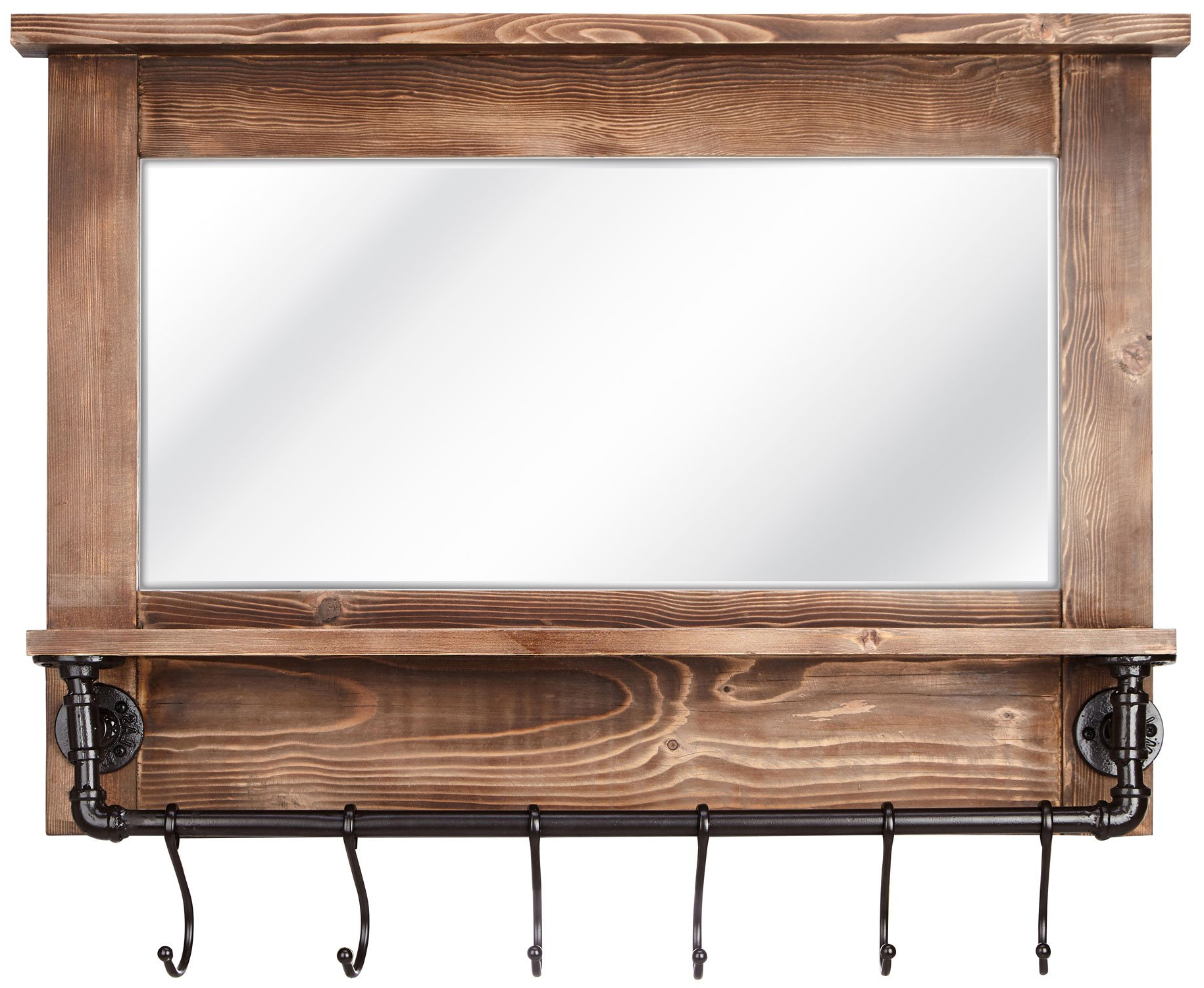 Well Known Afia Wall Mirror With Shelf And Hooks For Wall Mirrors With Hooks And Shelf (View 12 of 20)