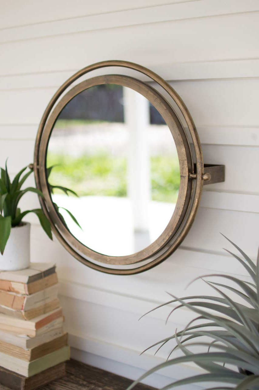 Well Known Amazon: Borneo Decor Cll2253 Round Wall Mirror With Intended For Large Round Wall Mirrors (View 12 of 20)