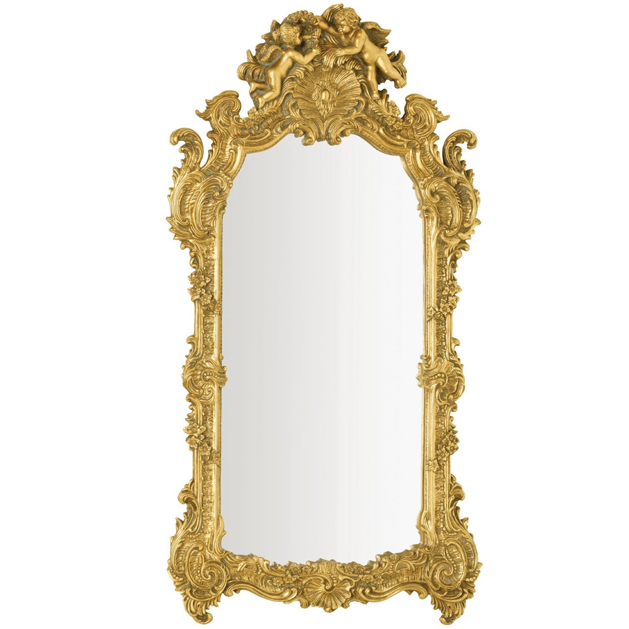Well Known Antique Gold Wall Mirrors For Antique French Style Gold Battista Wall Mirror (View 15 of 20)