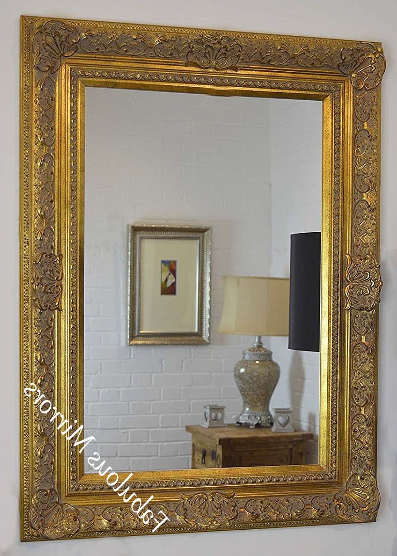 Well Known Antique Gold Wall Mirrors Inside Decorative Antique Gold Wall Mirror – Full Range Of Sizes And Frame Colours (View 16 of 20)