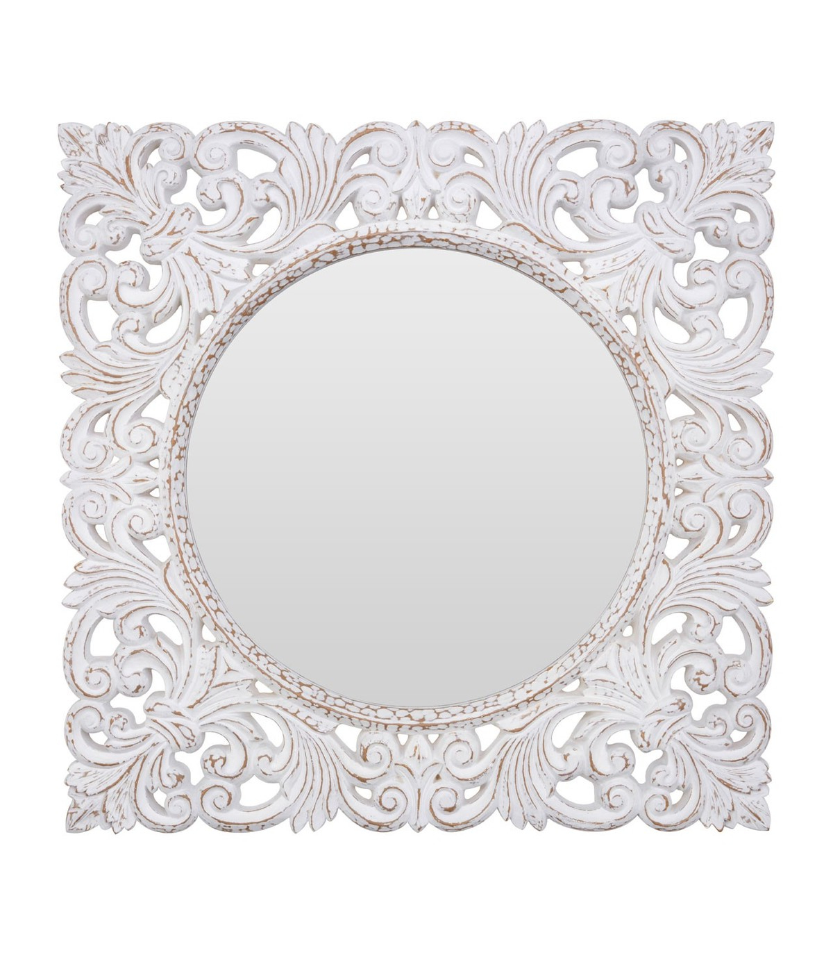 Well Known Antique White Wall Mirrors Pertaining To Helga Antique White Wall Mirror (View 14 of 20)