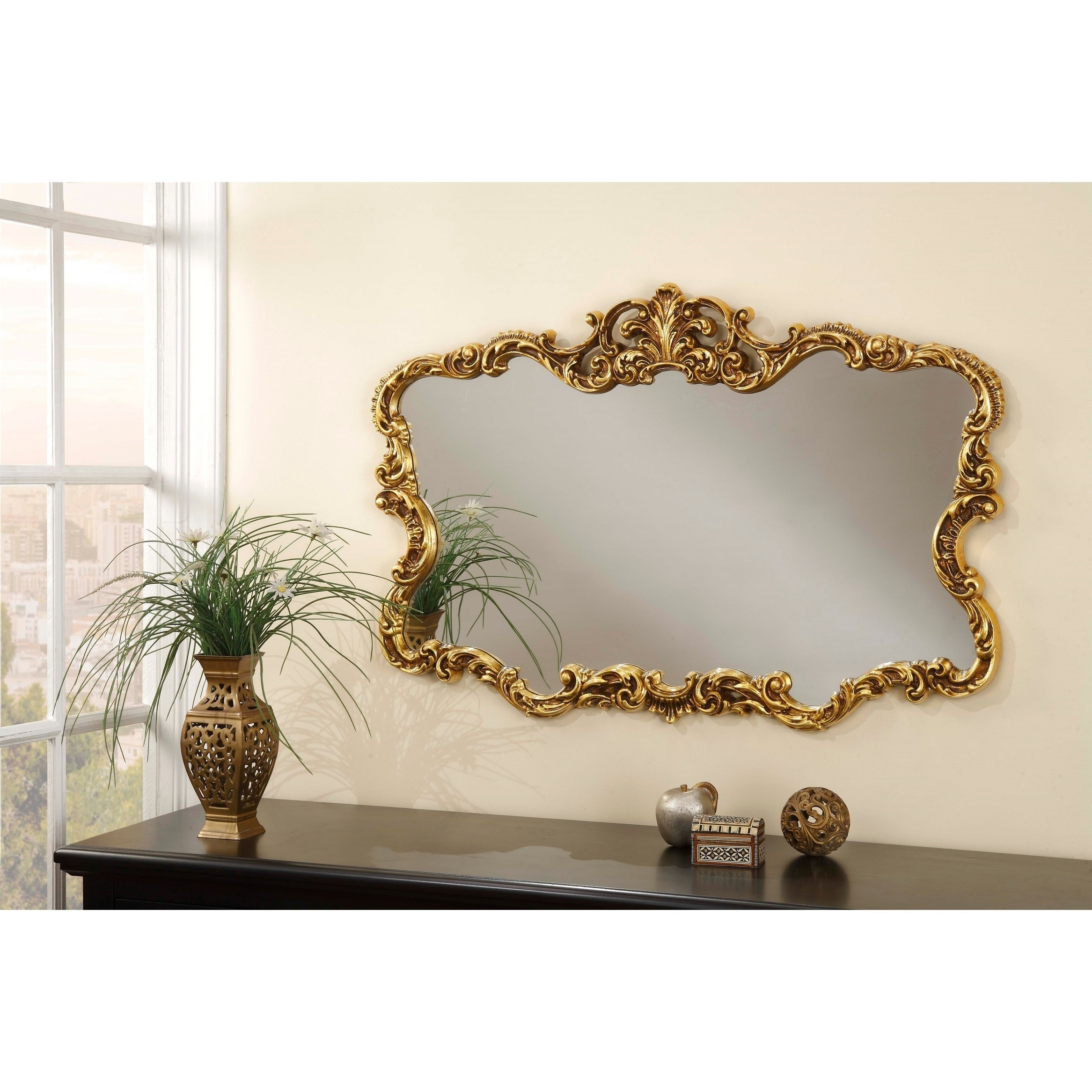 """Well Known Aureate 38"""" X 26"""" Wall Mirror – A/n Throughout Talida Wall Mirrors (View 18 of 20)"""