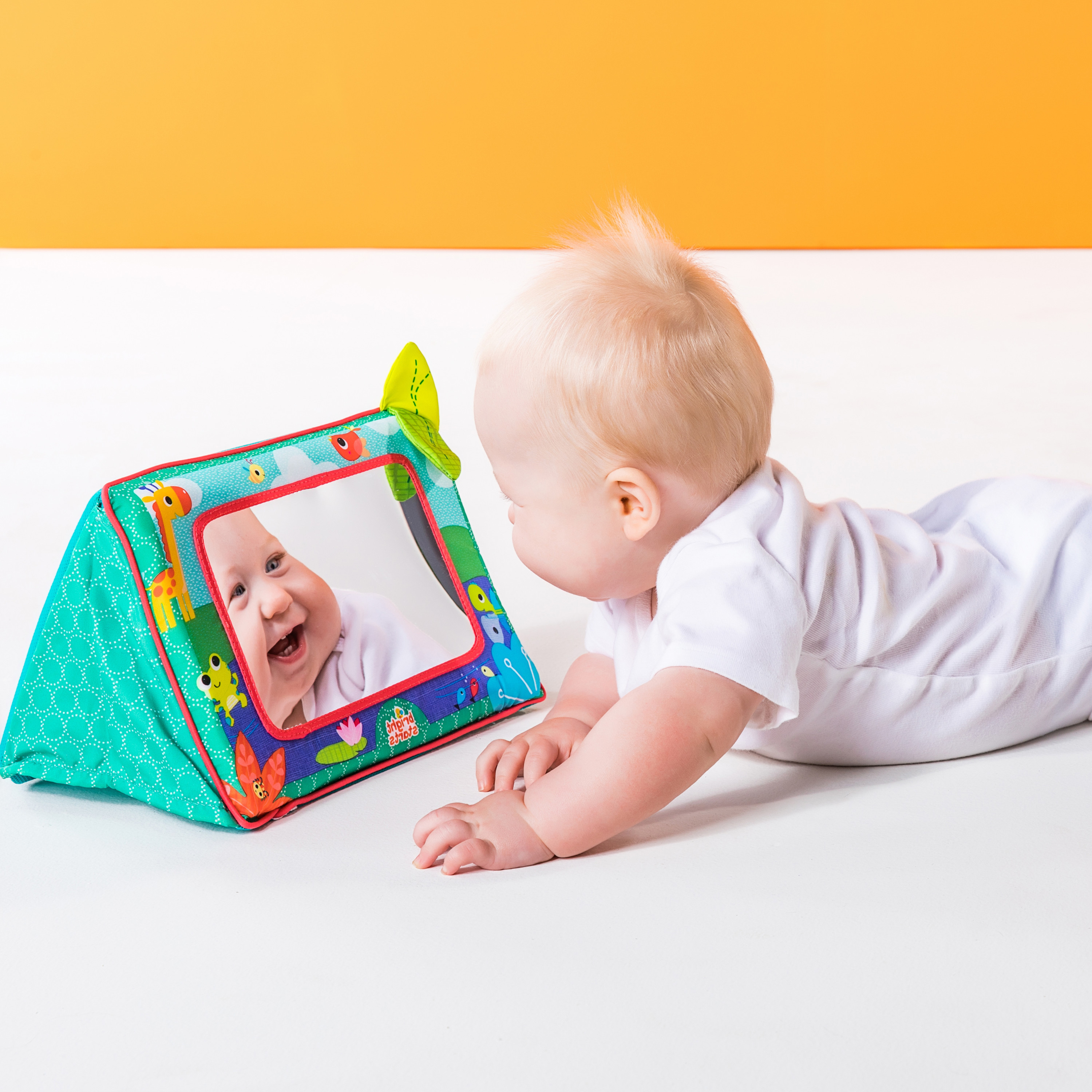 Well Known Baby Safe Wall Mirrors For Bright Starts Sit & See Safari Floor Mirror (View 10 of 20)