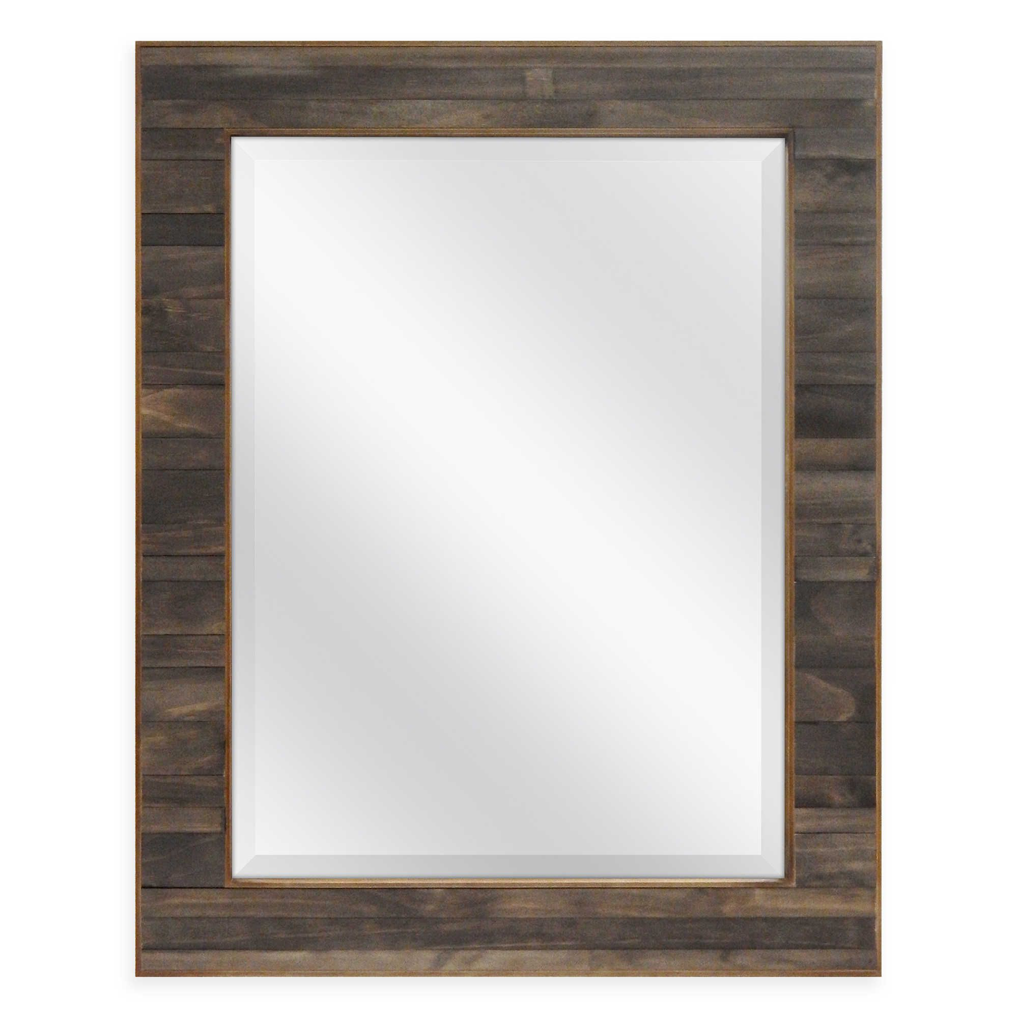 Well Known Bartolo Accent Mirrors Regarding Walnut Plank 23.5 Inch X (View 4 of 20)