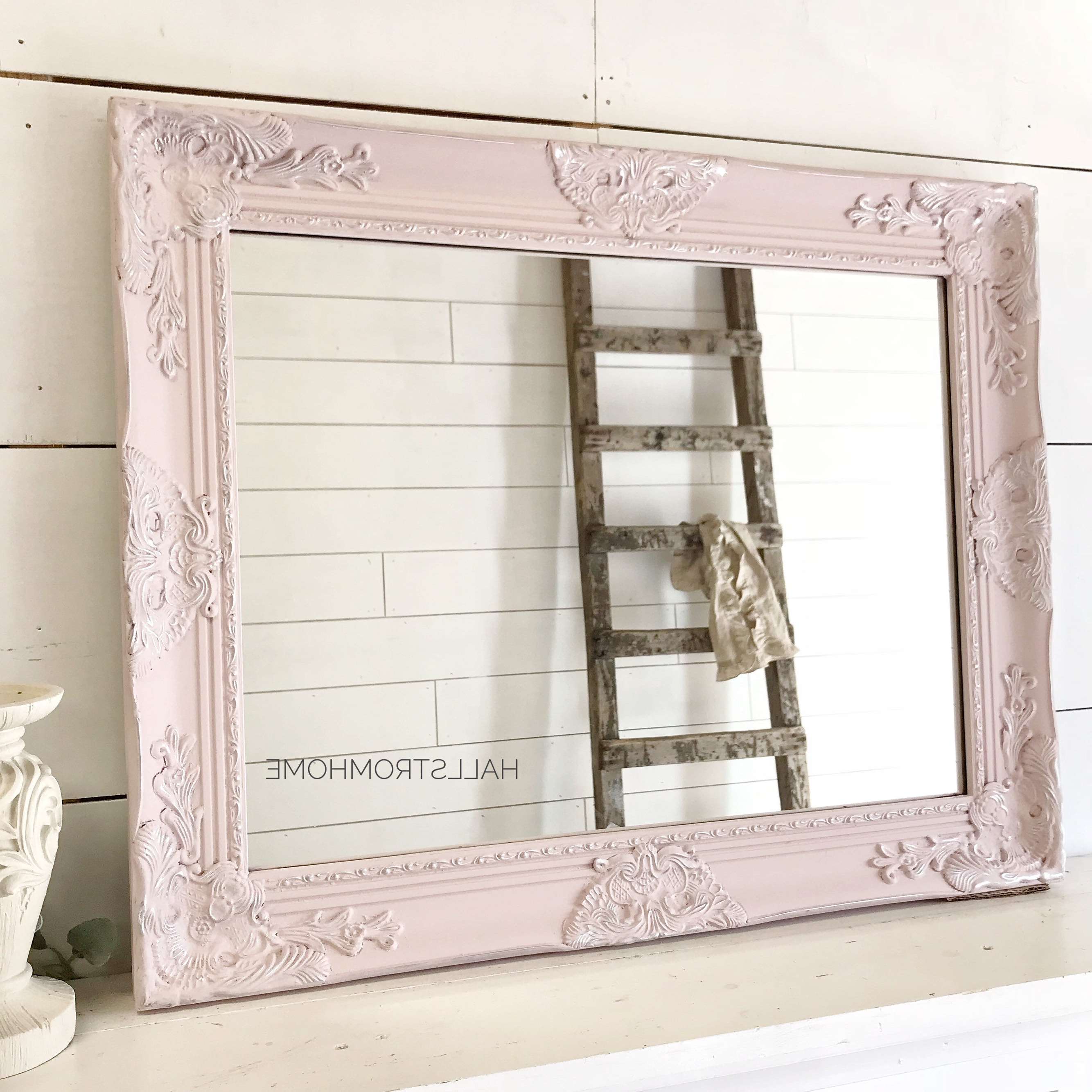 Well Known Bathroom Mirror/ Vanity Mirror/ Shabby Chic Decor/ Wedding Seating Chart/ Girls Room Nursery Decor/ Pink Wall Decor Throughout Girls Pink Wall Mirrors (View 15 of 20)
