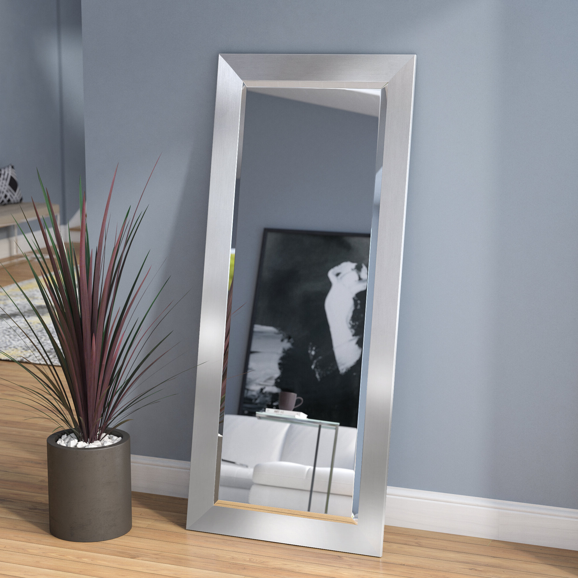 Well Known Beveled Wall Mirrors With Bahamas Silver Modern And Contemporary Beveled Wall Mirror (View 13 of 20)