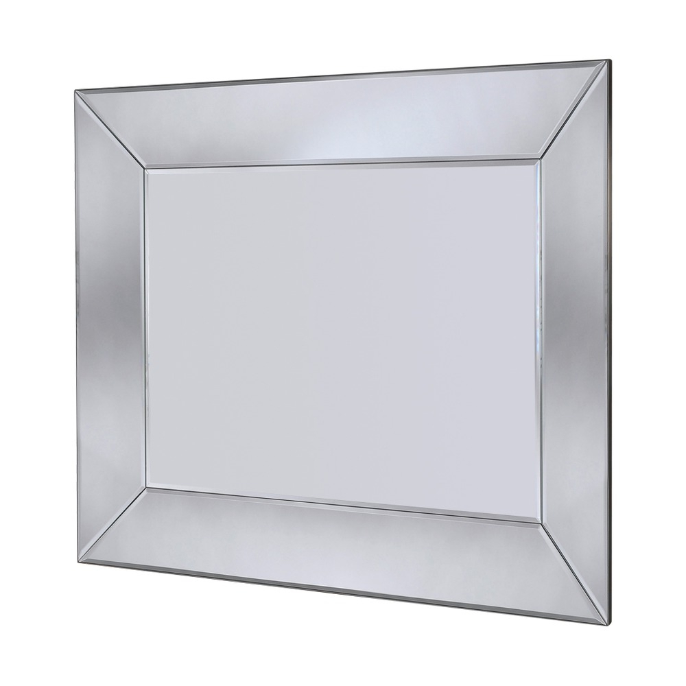 Well Known Bevelled Wall Mirrors Within Mozia Silver Bevelled Wall Mirror – 183cm X 107cm (View 17 of 20)