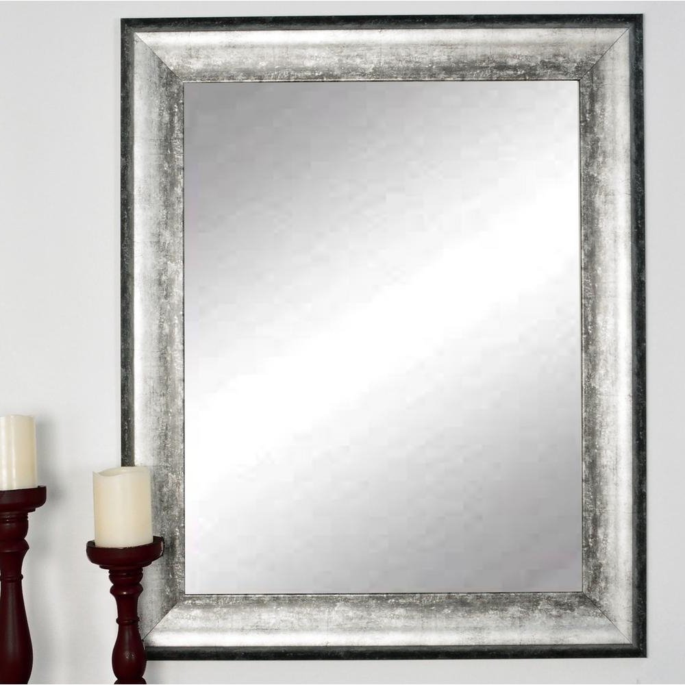 Well Known Brandtworks Kingston Silver Decorative Framed Wall Mirror With Large Silver Framed Wall Mirror (View 9 of 20)
