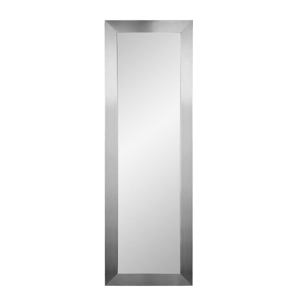 Well Known Brandtworks Modern Silver Slim Wall Mirror Bm1Thin L3 – The For Thin Wall Mirrors (View 18 of 20)