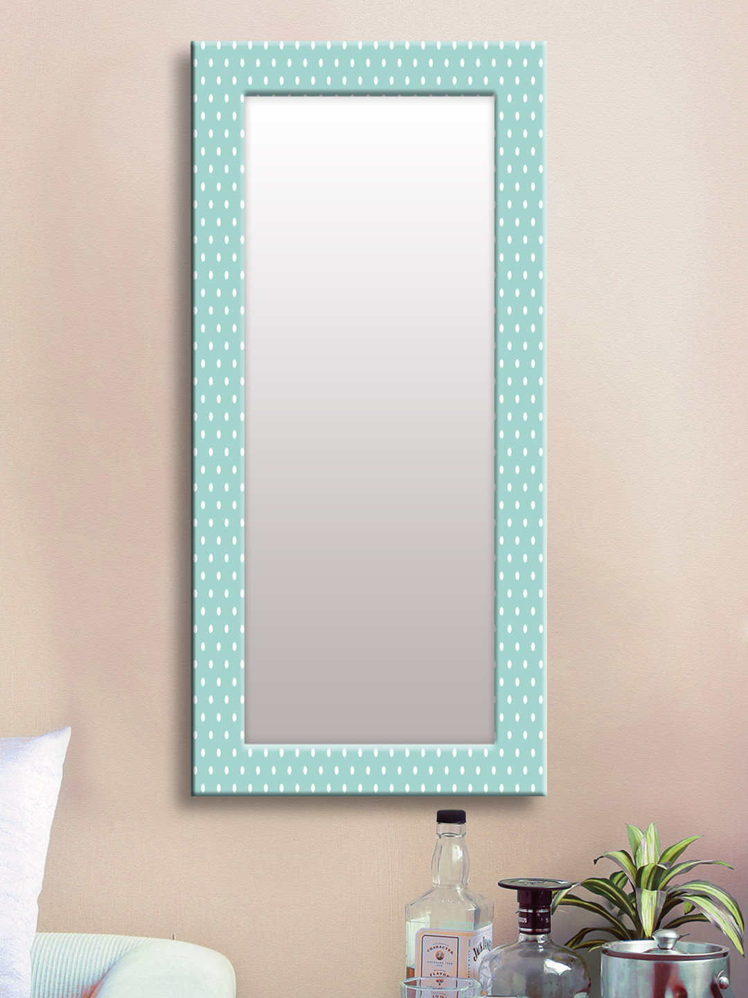 Well Known Buy 999Store Blue Framed Wall Mirror – Mirrors For Unisex 8390653 For Blue Framed Wall Mirrors (View 16 of 20)