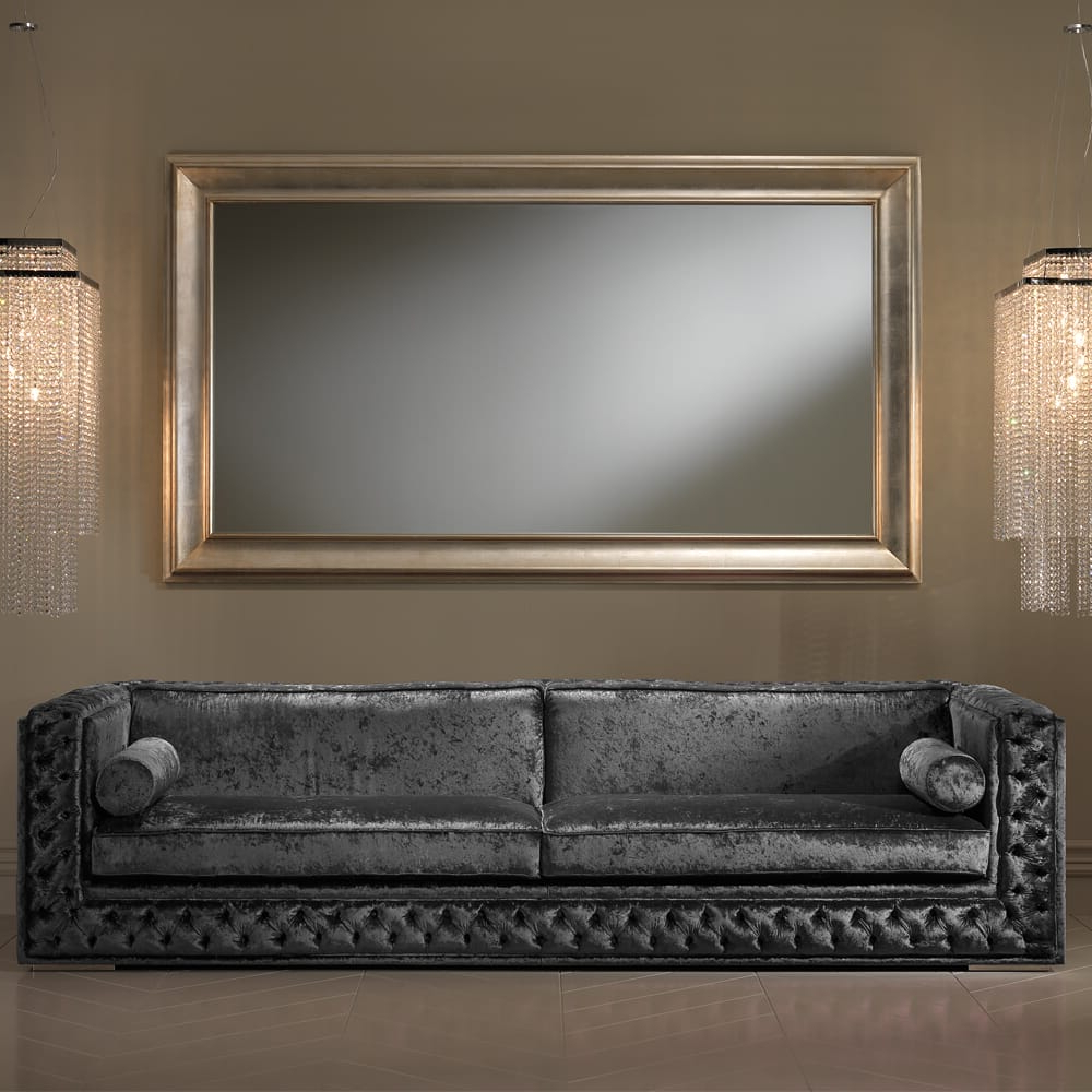 Well Known Champagne Wall Mirrors Throughout Large Champagne Leaf Wall Mirror (View 20 of 20)