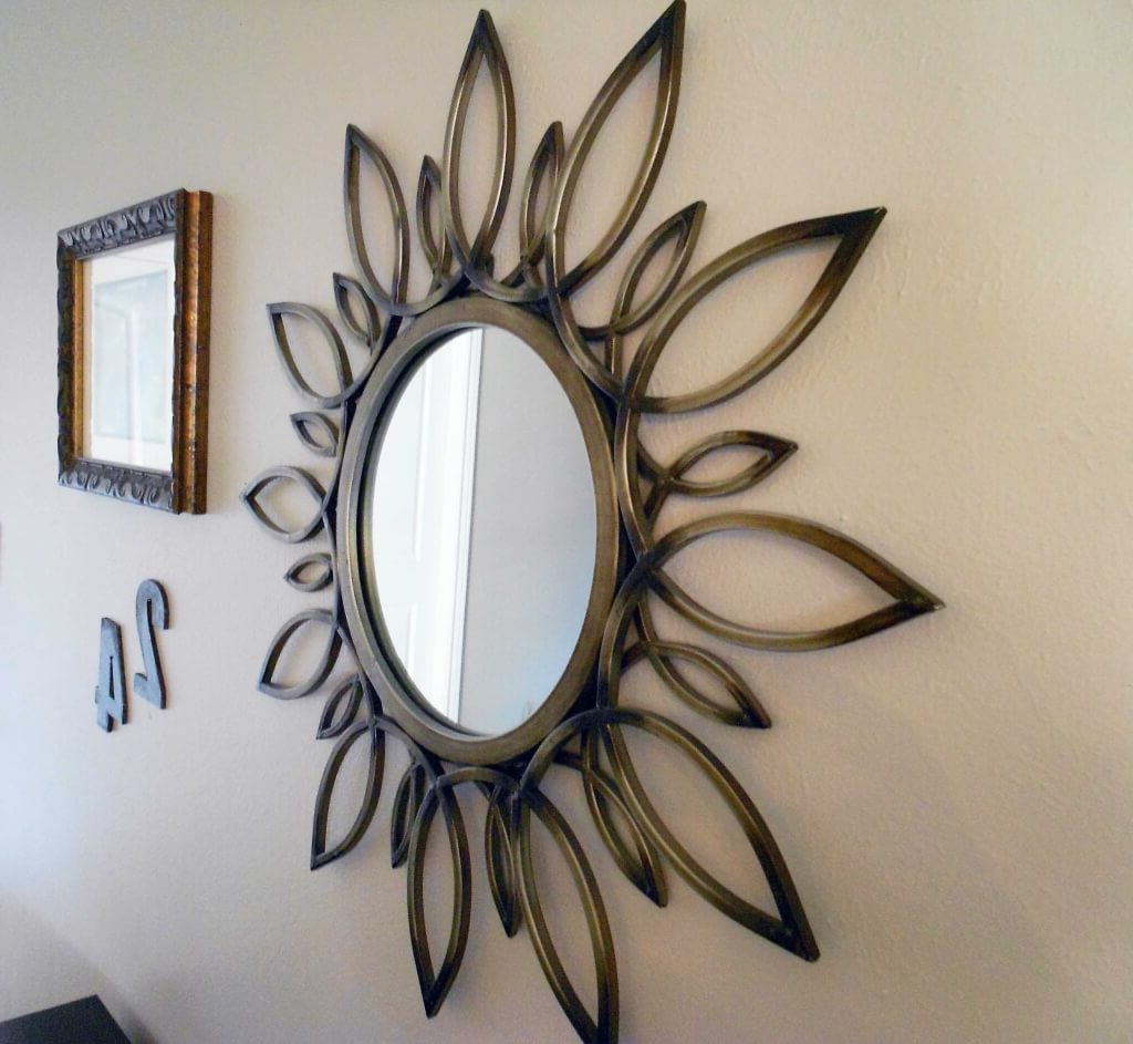 Well Known Cheap Decorative Wall Mirrors Inside Sun Mirror Wall Decor Metal : Ideas Sun Mirror Wall Decor – Top (View 15 of 20)