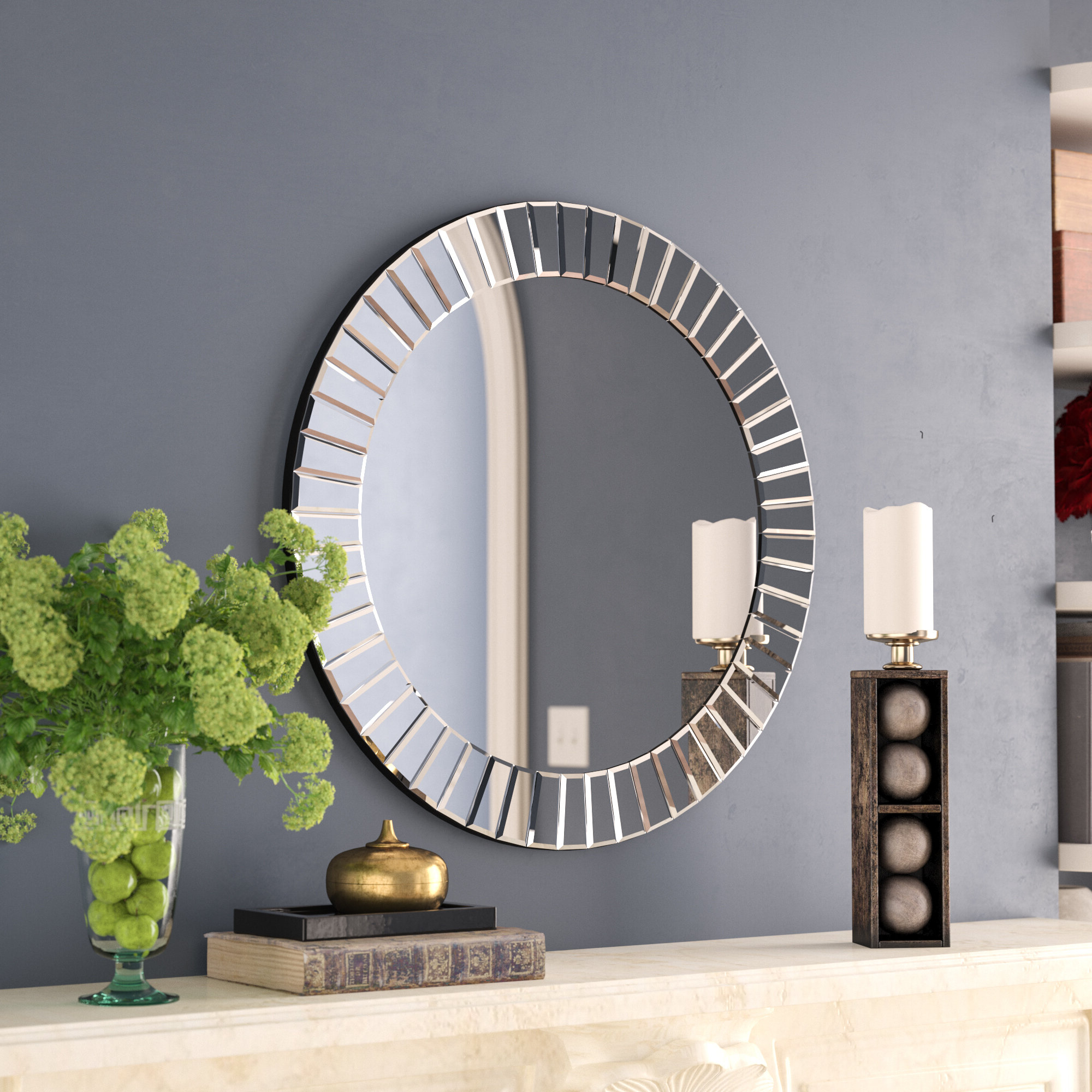 Well Known Circle Wall Mirrors Regarding Loren Round Wall Mirror (View 5 of 20)