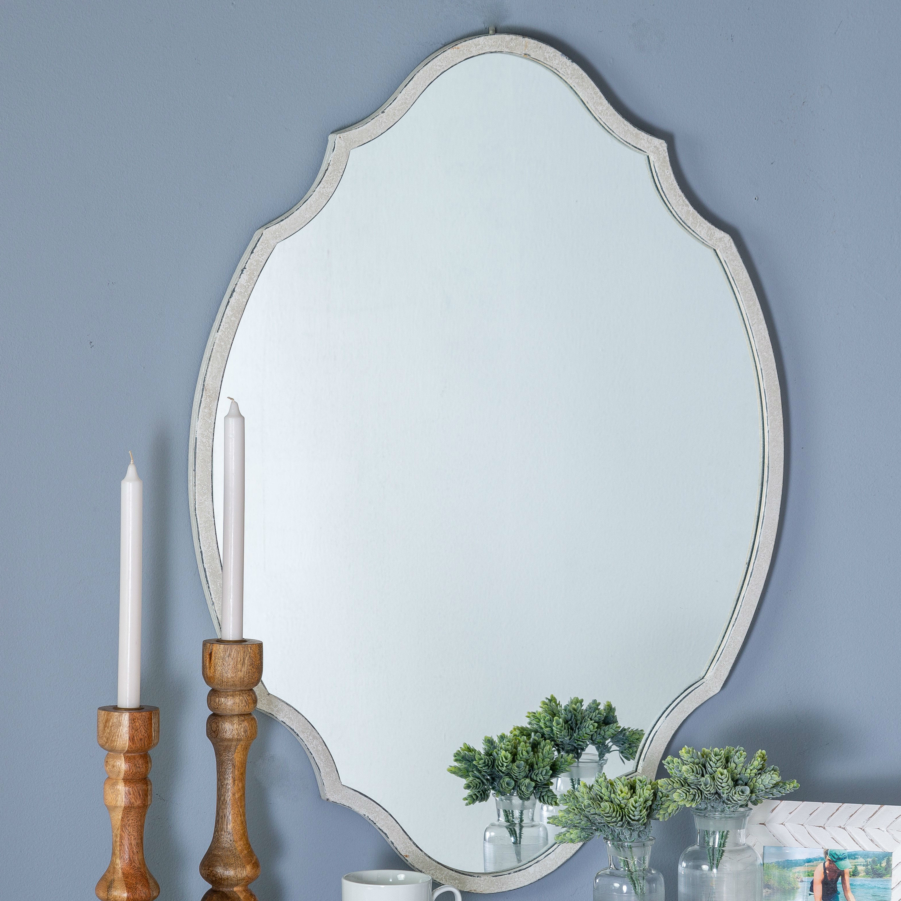 Well Known Dariel Tall Arched Scalloped Wall Mirrors For Bulwell Wall Mirror (View 7 of 20)