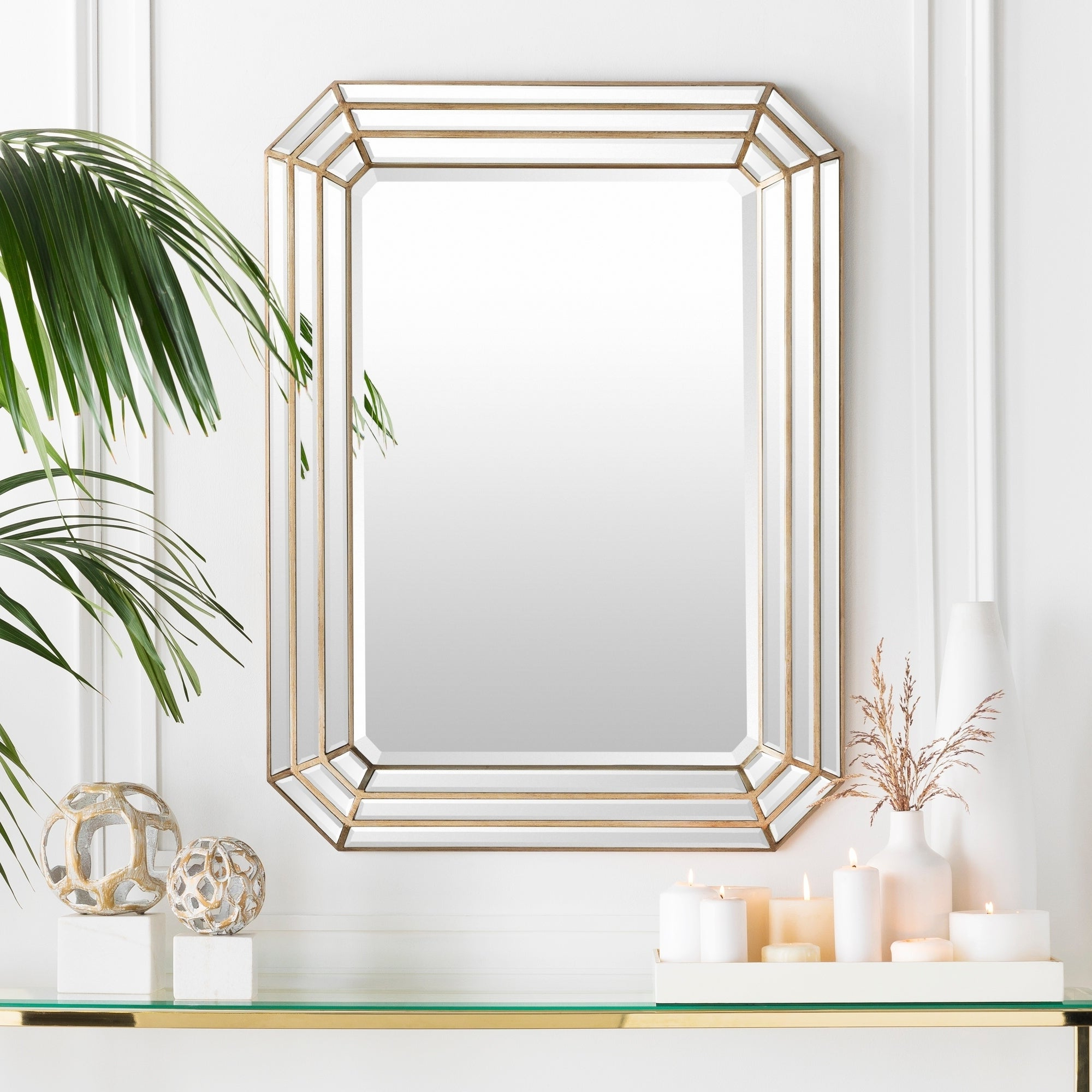 """Well Known Darius Framed Large Size Octagon Wall Mirror – Gold – 30"""" X 40"""" Within Octagon Wall Mirrors (View 11 of 20)"""