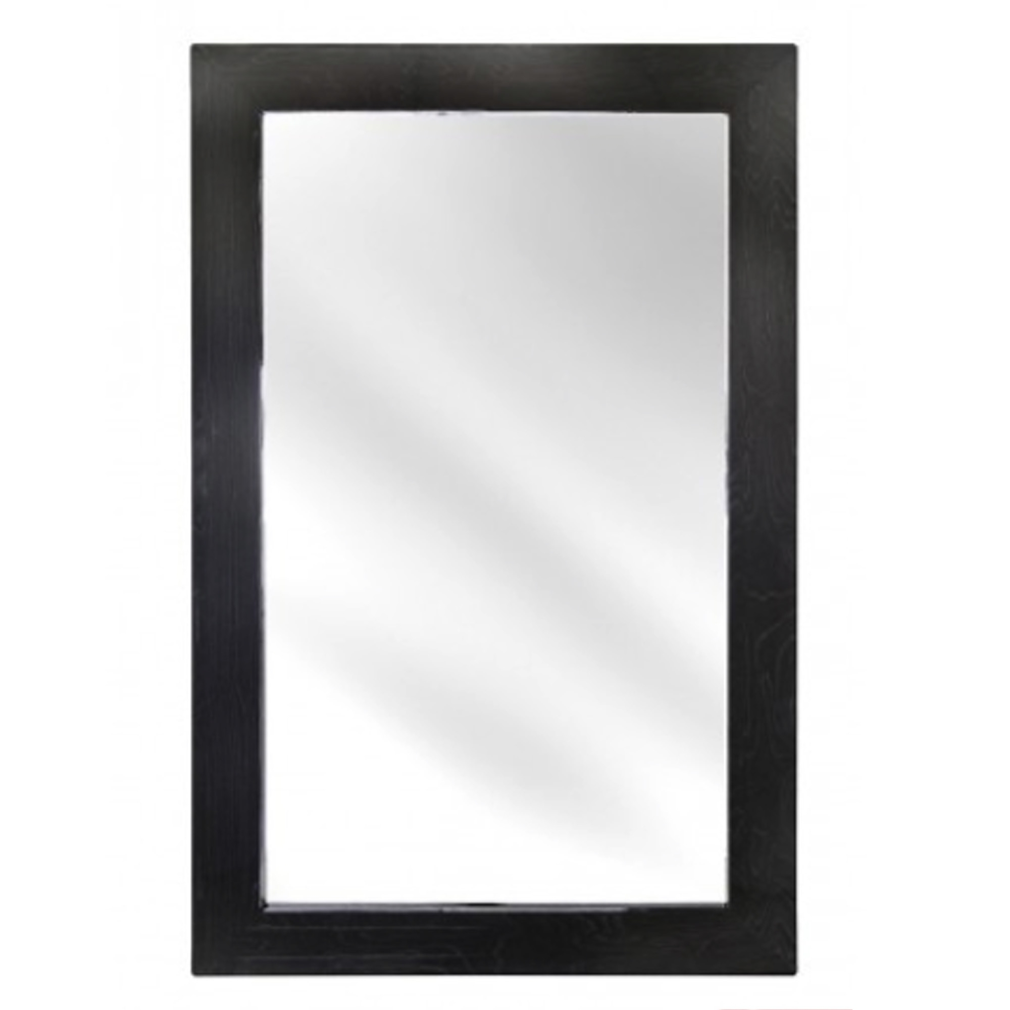 Well Known Dark Grey Wooden Wall Mirror Pertaining To Dark Wood Wall Mirrors (View 19 of 20)