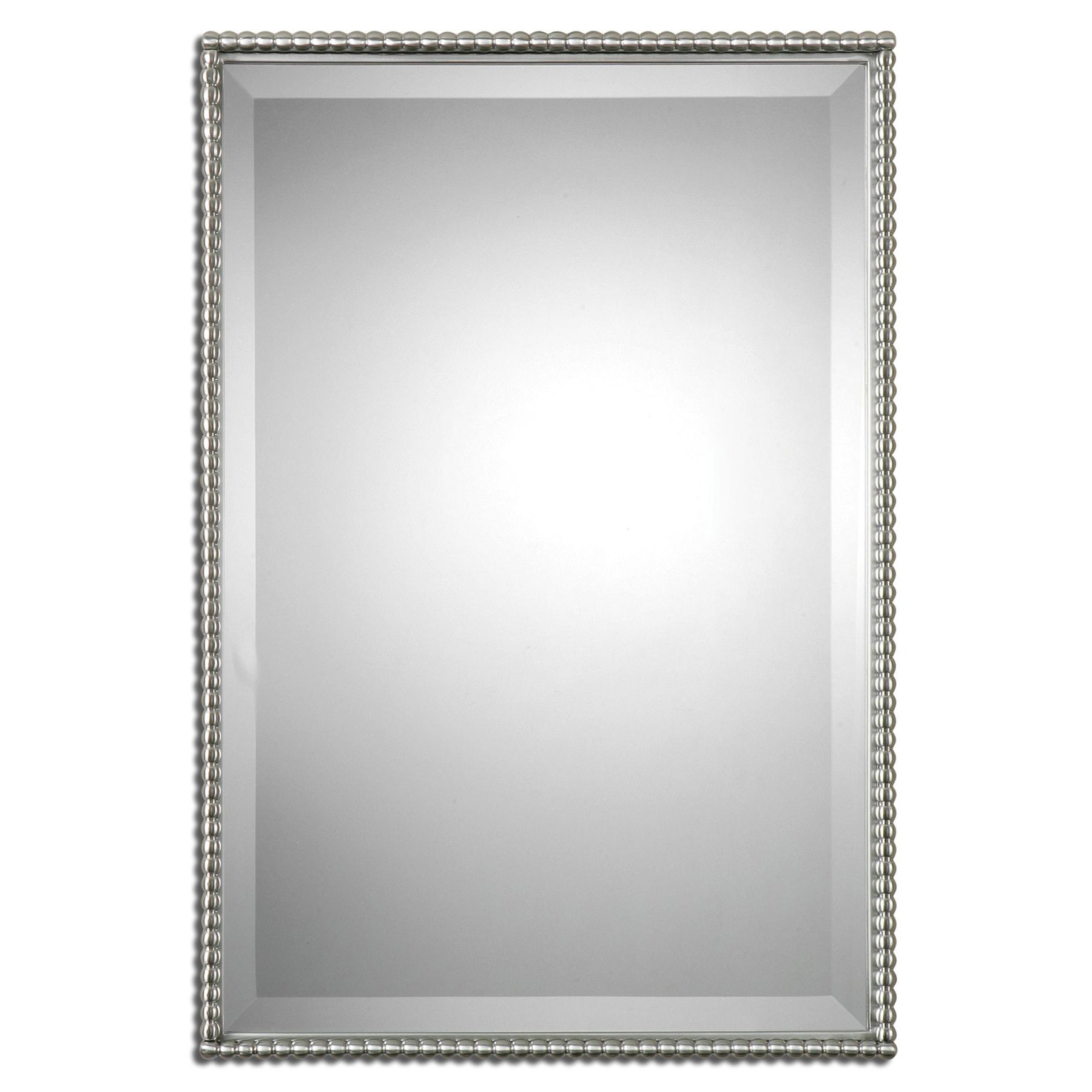 Well Known Decorative Rectangular Wall Mirrors Pertaining To Uttermost Sherise Brushed Nickel Bead Framed Beveled Mirror – Brushed  Nickel – 21X31X (View 20 of 20)