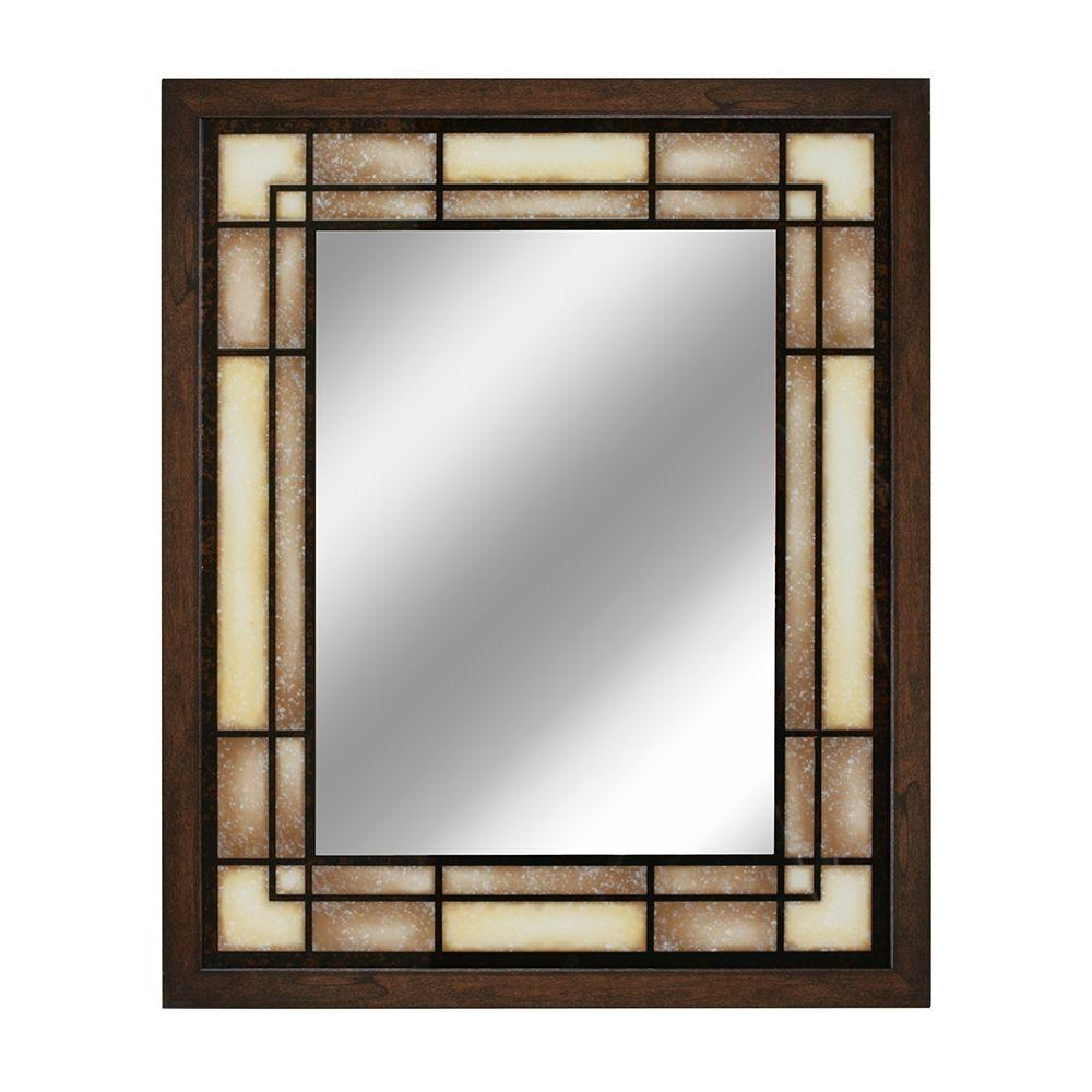 Well Known Details About 26 In. W X 32 In. H Tea Glass Rectangle Wall Mirror Vertical  Horizontal Brown For Horizontal Wall Mirrors (Gallery 6 of 20)