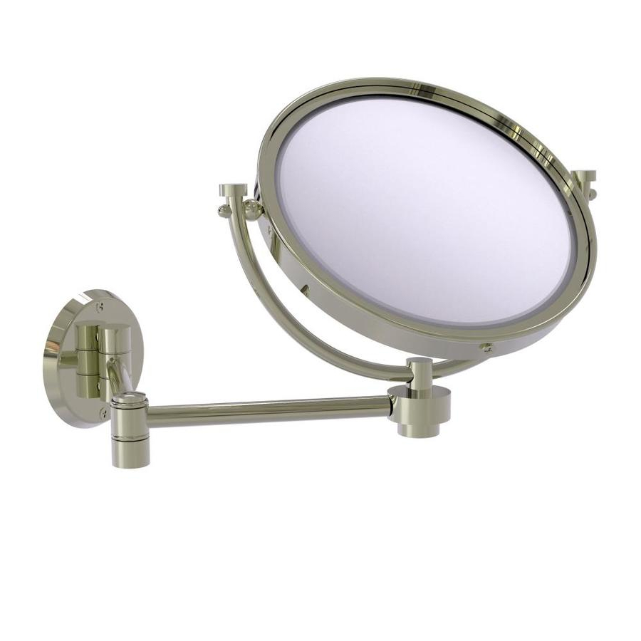 Well Known Extending Wall Mirrors Intended For Allied Brass 8 In Wall Mounted Extending Make Up Mirror 5x (View 4 of 20)