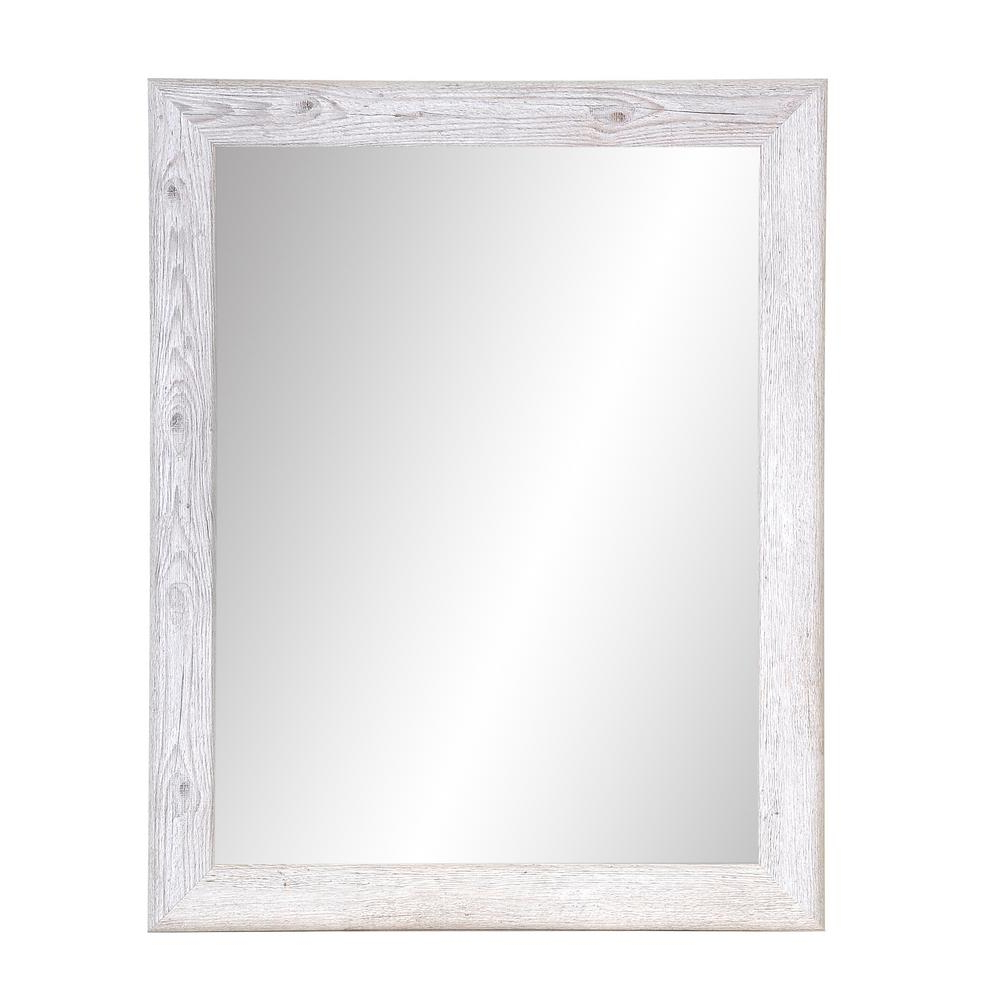 Well Known Farmhouse Woodgrain And Leaf Accent Wall Mirrors Intended For Brandtworks Charcoal Farmhouse Gray Wall Mirror Bm075l2 – The Home Depot (View 8 of 20)