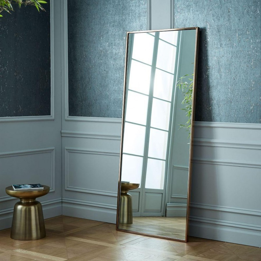 Well Known Floor To Wall Mirrors Inside Tips: Leaning Mirror For Home Accessories — Rachelmariedavino (View 20 of 20)