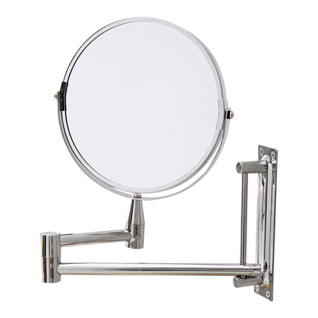 Well Known Folding Wall Mirrors With Regard To Amazon: Lqy Roundbathroom Telescopic Folding Wall Mirror,double (View 18 of 20)